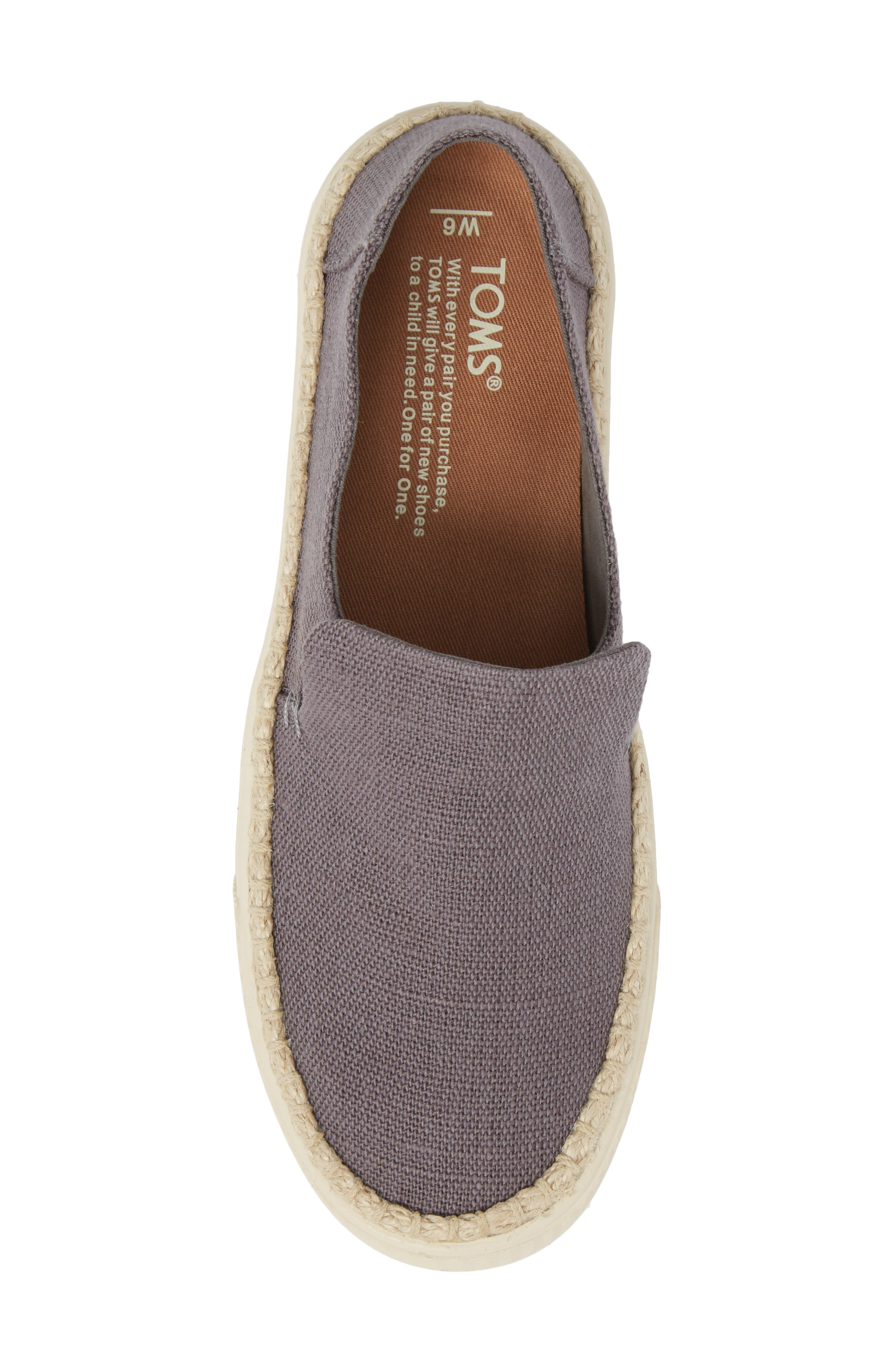 Sunset Slip-On,                             Alternate thumbnail 5, color,                             Shade Heritage Canvas/ Rope