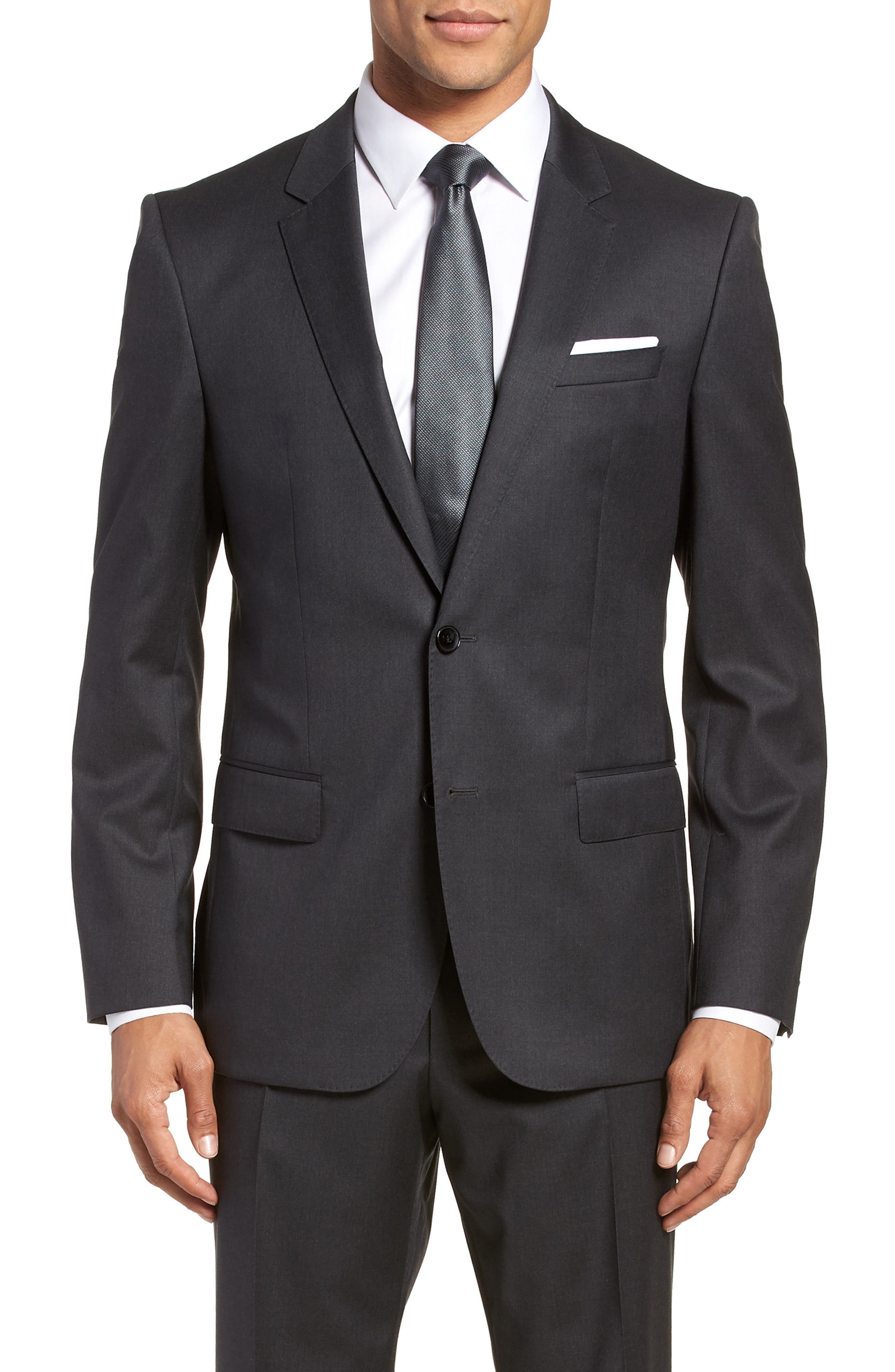 Hayes CYL Trim Fit Solid Wool Sport Coat,                         Main,                         color, Dark Grey