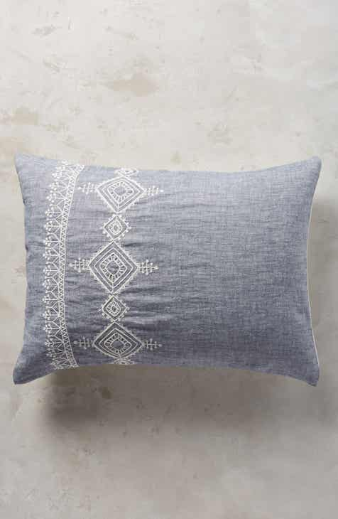 Anthropologie Embroidered Argenta Set of 2 Shams