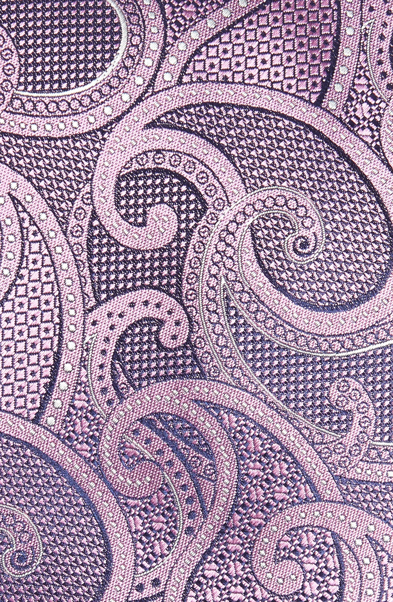 Paisley Silk Tie,                             Alternate thumbnail 2, color,                             Dark Pink