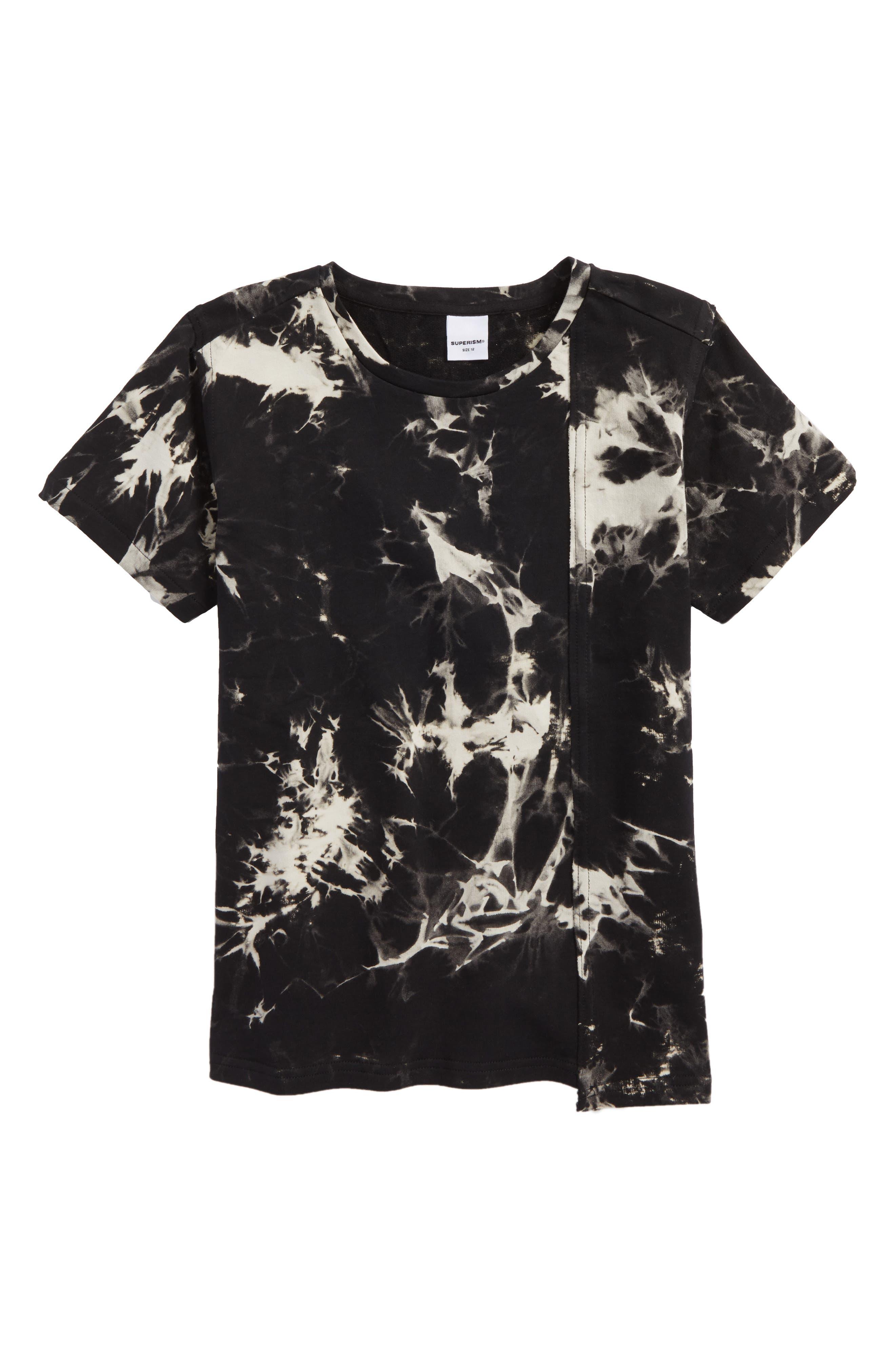 Reid Tie Dye T-Shirt,                         Main,                         color, Black
