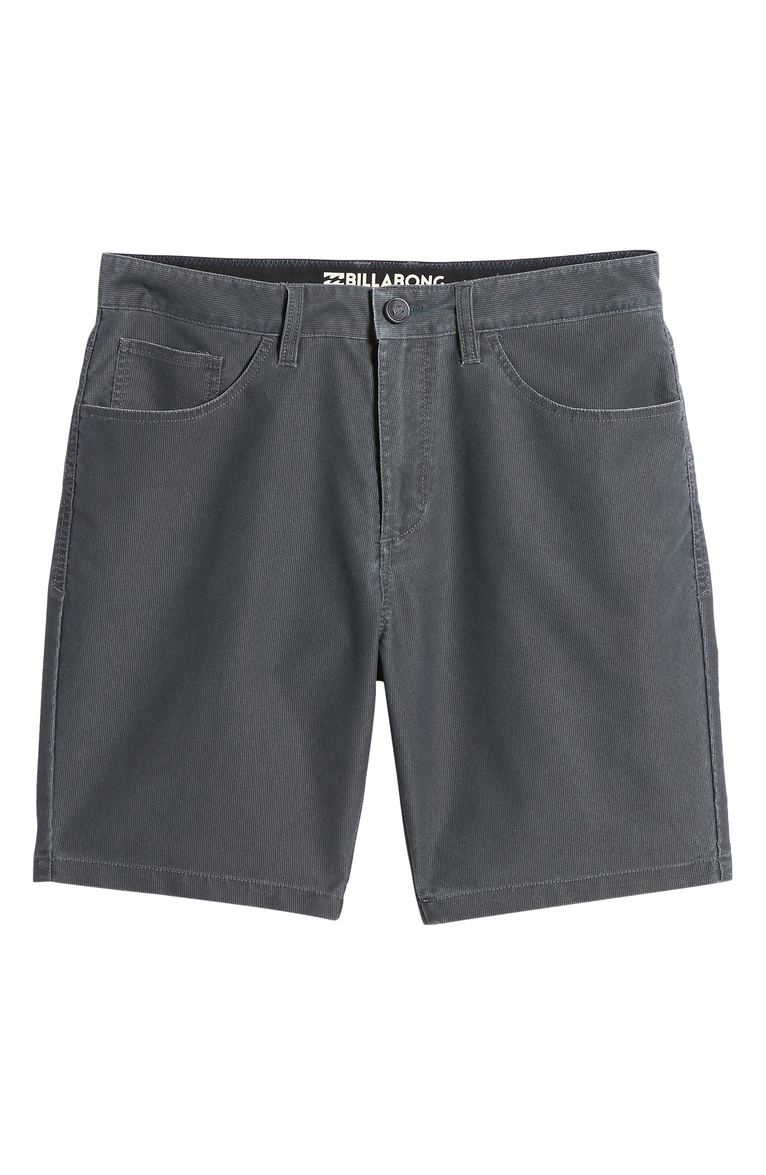 Outsider X Surf Corduroy Shorts,                             Alternate thumbnail 5, color,                             Black