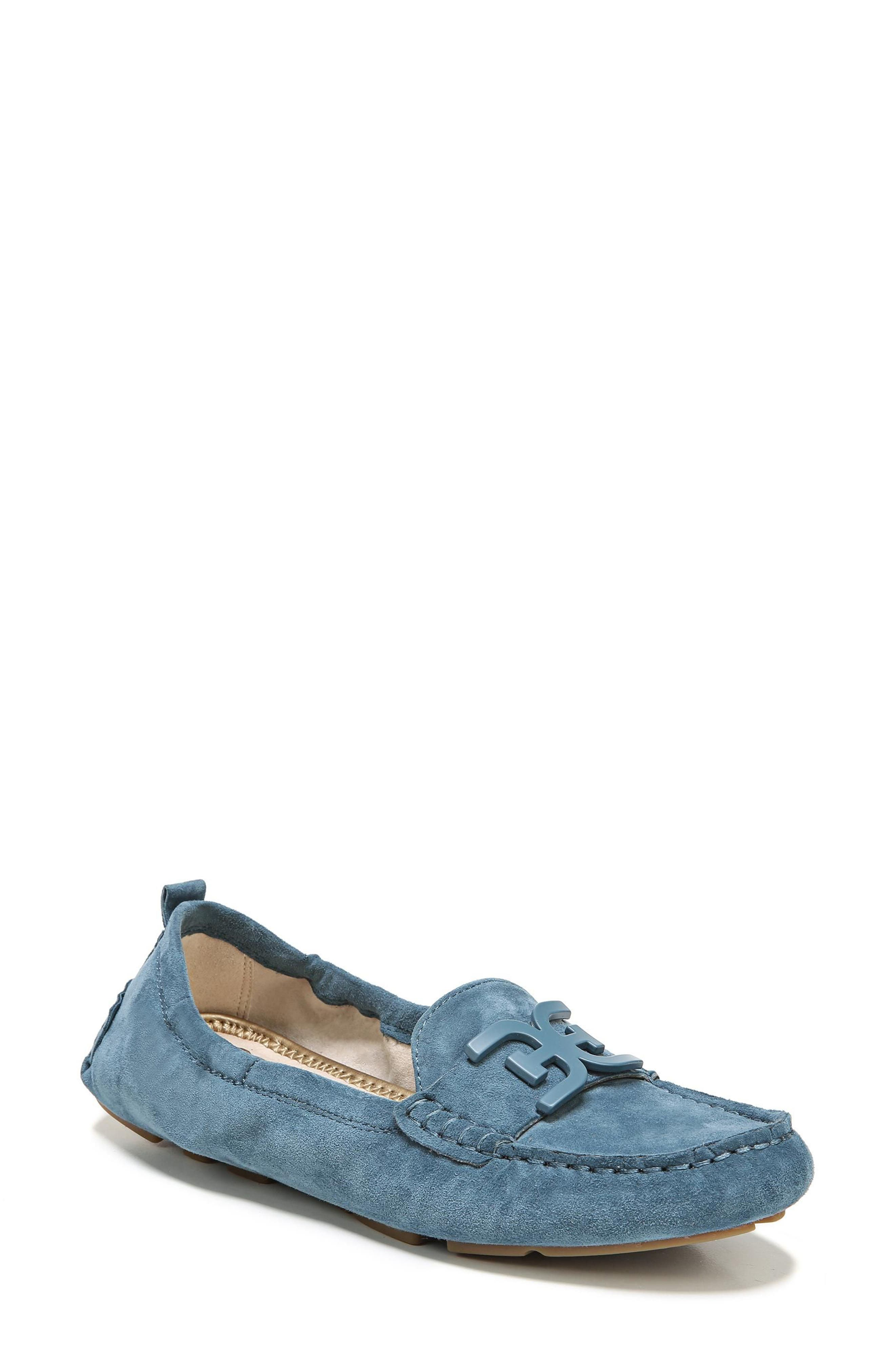 Farrell Moccasin Loafer,                             Main thumbnail 1, color,                             Denim Blue Suede