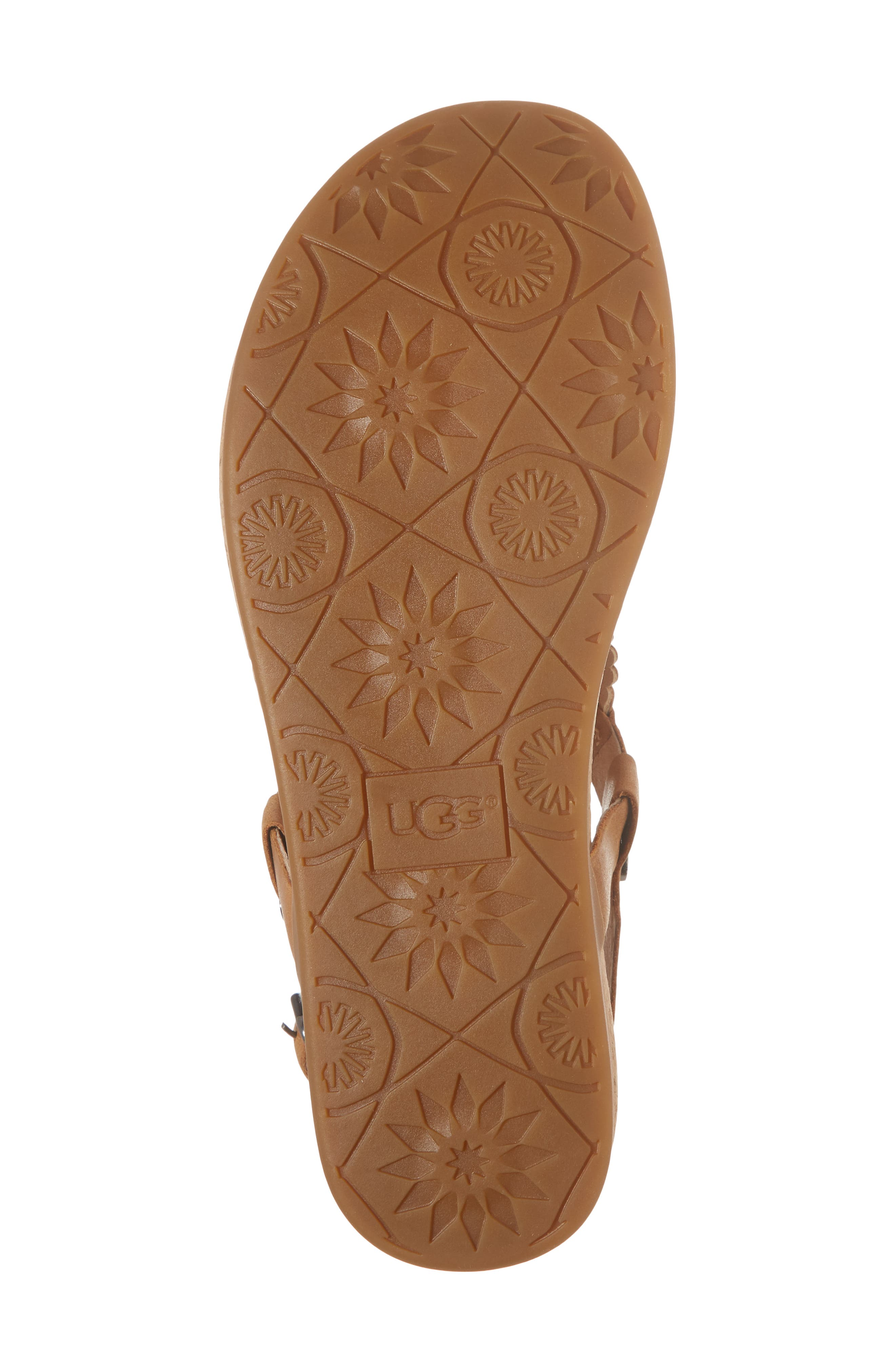 Ayden II T-Strap Sandal,                             Alternate thumbnail 6, color,                             Almond Leather