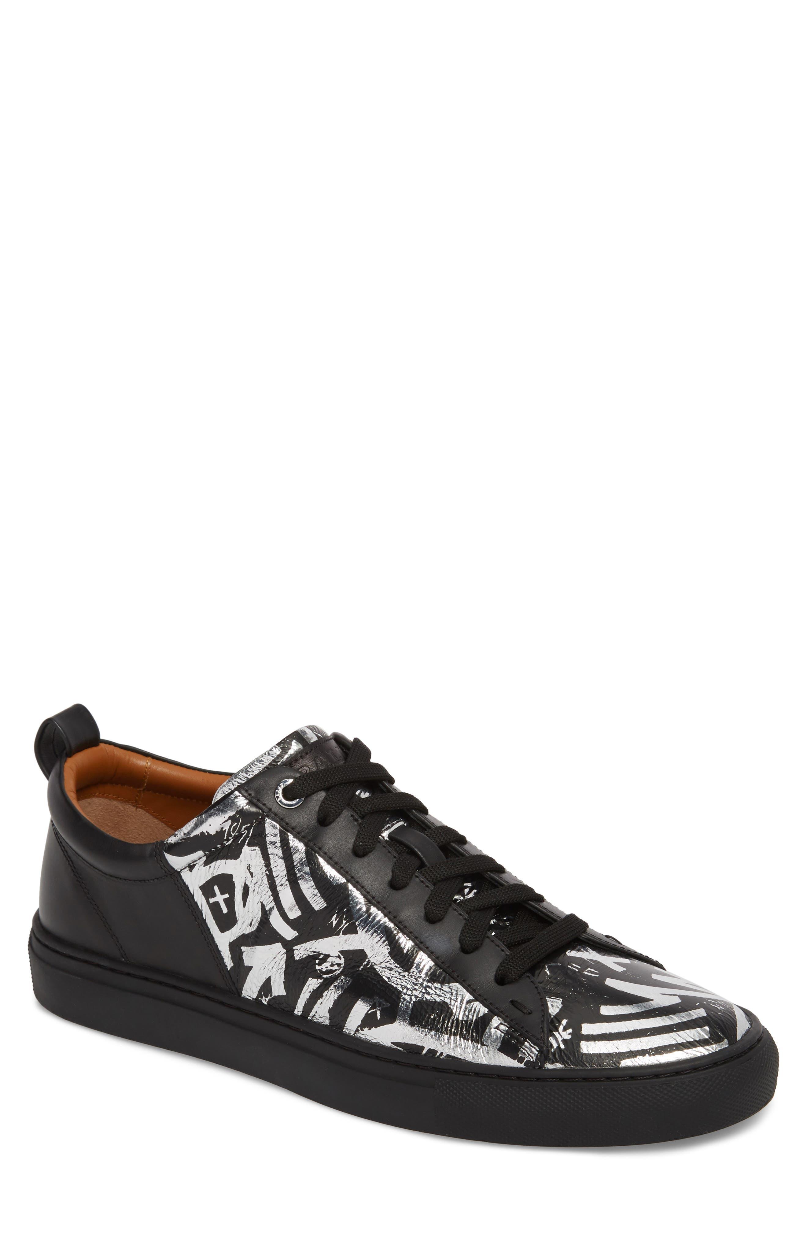 Herbi Low Top Sneaker,                         Main,                         color, Silver