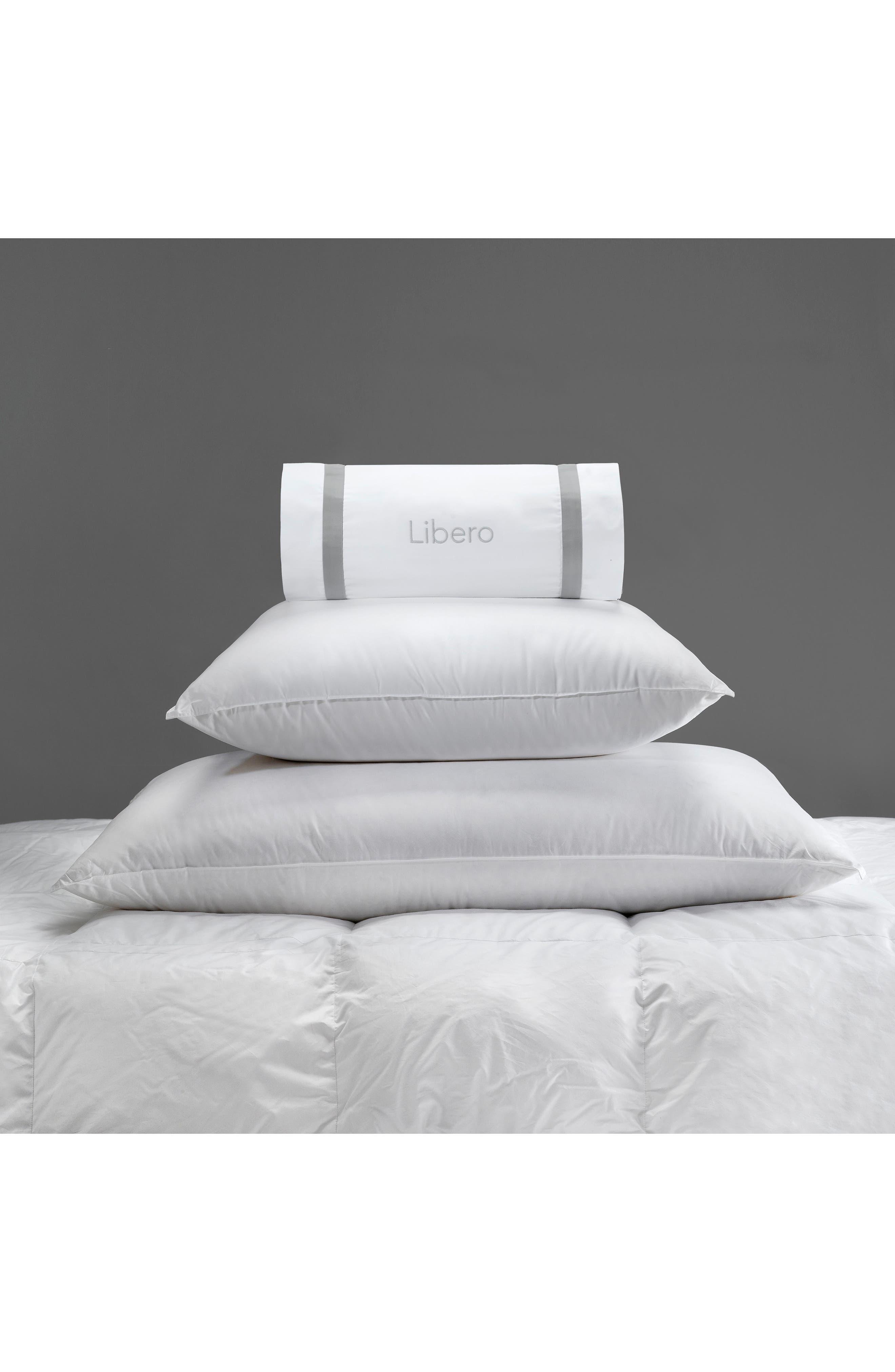 Libero 280 Thread Count Firm Euro Pillow,                             Alternate thumbnail 2, color,                             White