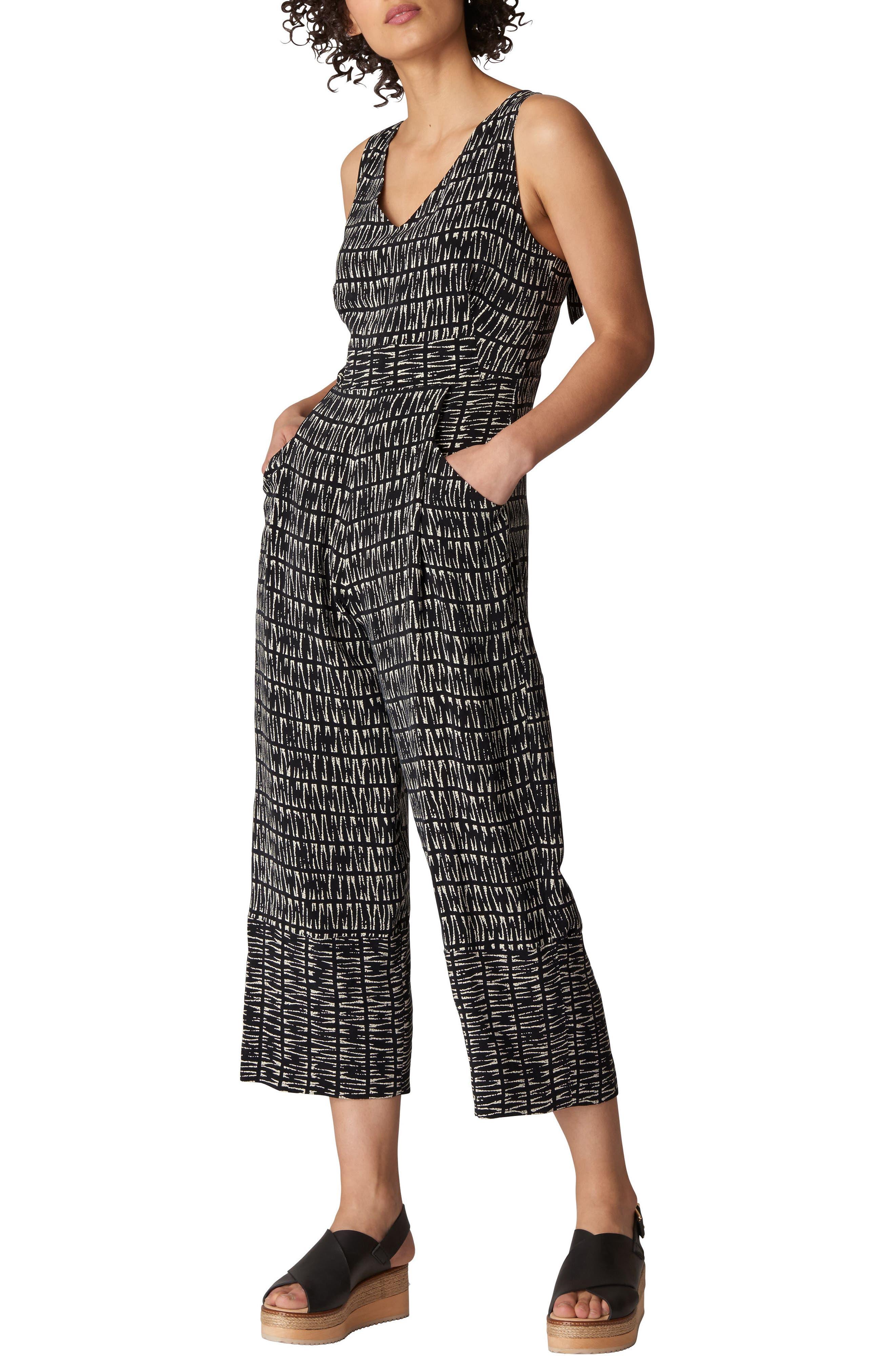 Mara Sahara Print Jumpsuit,                         Main,                         color, Black/ Multi