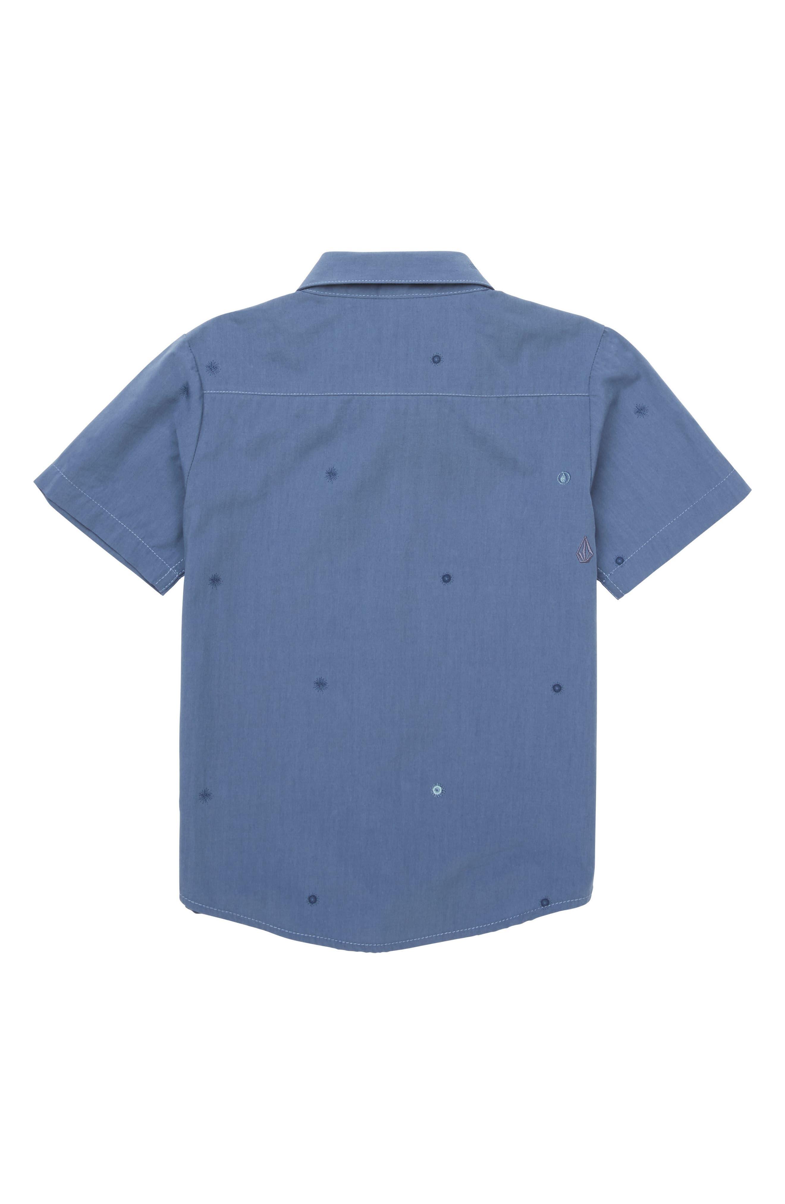 Bleeker Woven Shirt,                             Alternate thumbnail 2, color,                             Deep Blue