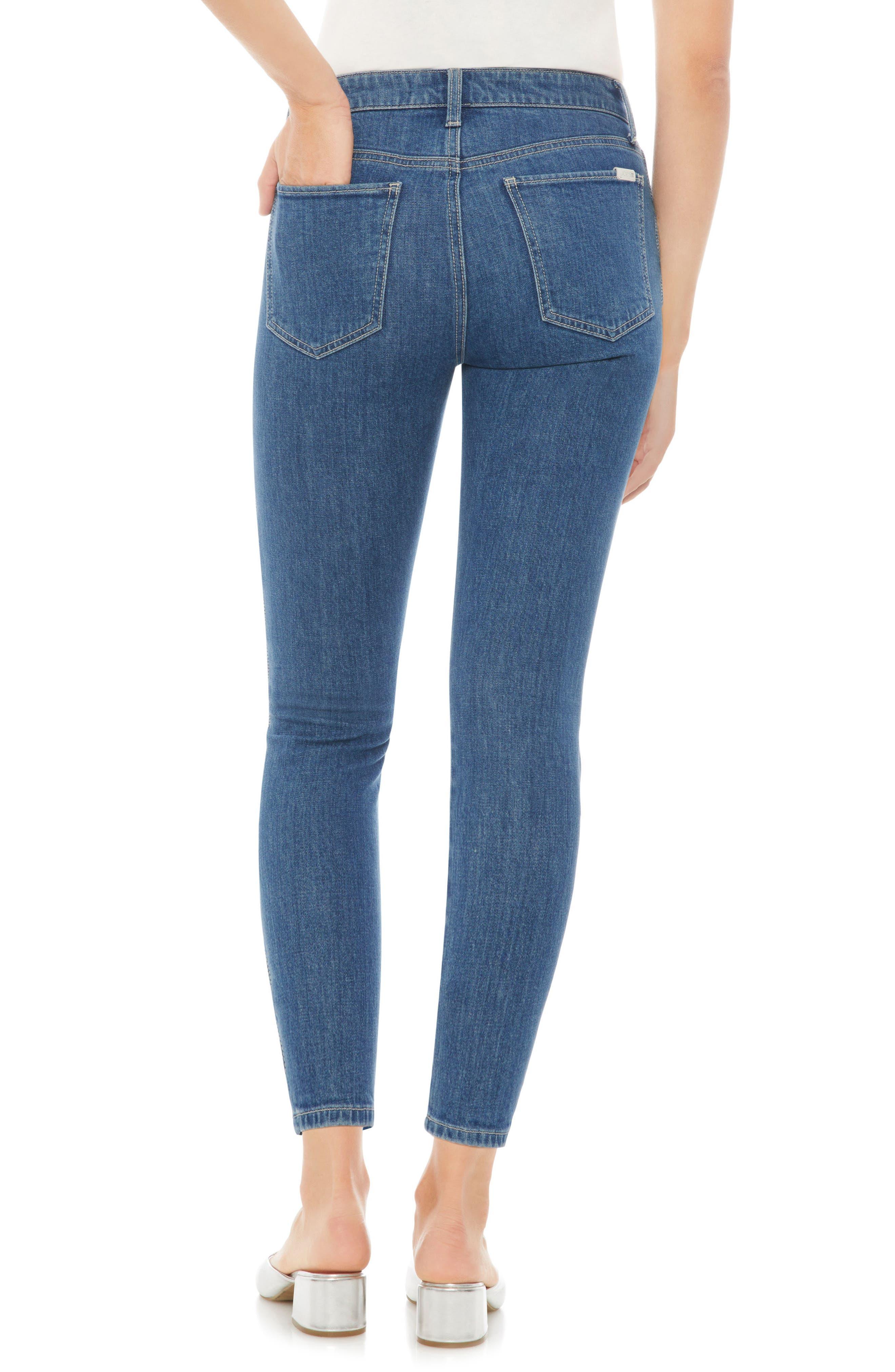 Charlie High Waist Crop Skinny Jeans,                             Alternate thumbnail 3, color,                             Dollie