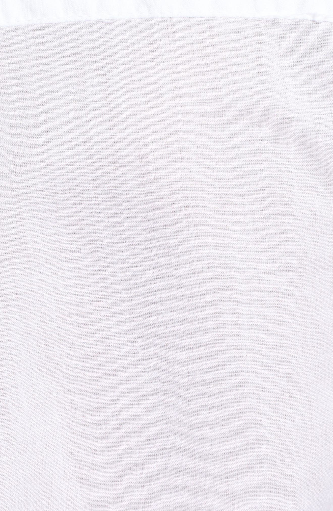 Tie Front Shirt,                             Alternate thumbnail 6, color,                             White