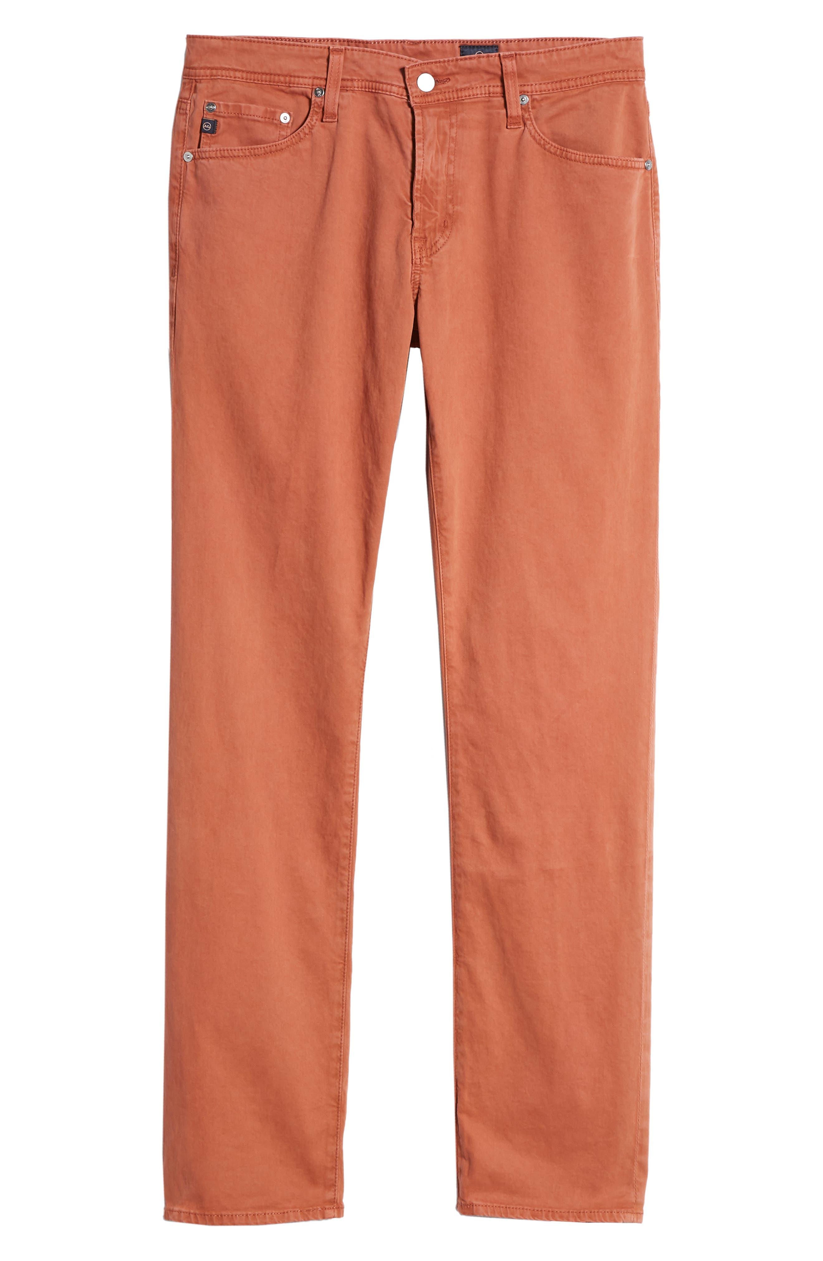 Graduate SUD Slim Straight Leg Pants,                             Alternate thumbnail 6, color,                             Sulfur Rosso Red