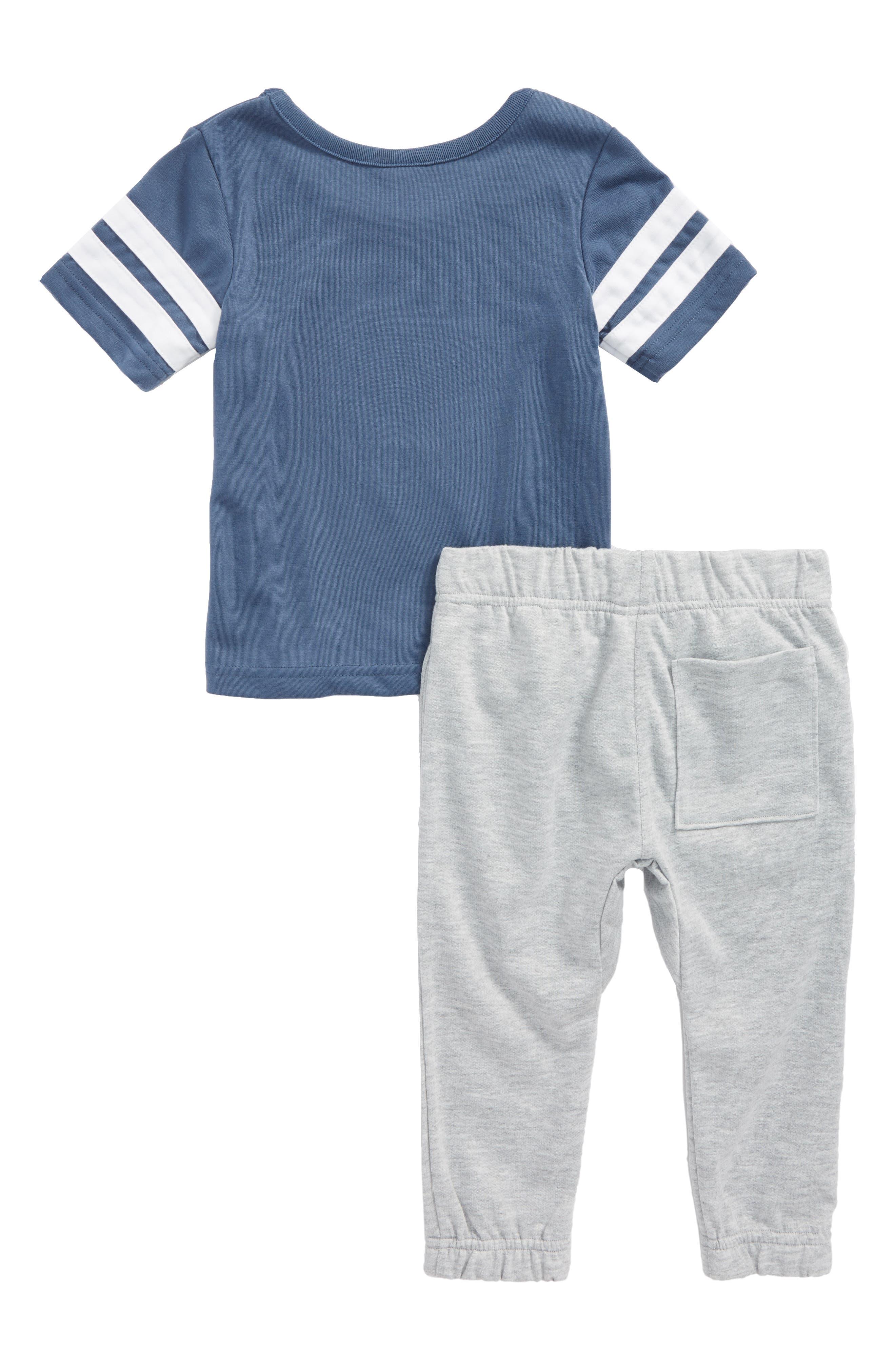 Yum Yum Two-Piece Pajamas,                             Alternate thumbnail 2, color,                             Blue Vintage Basket Swish