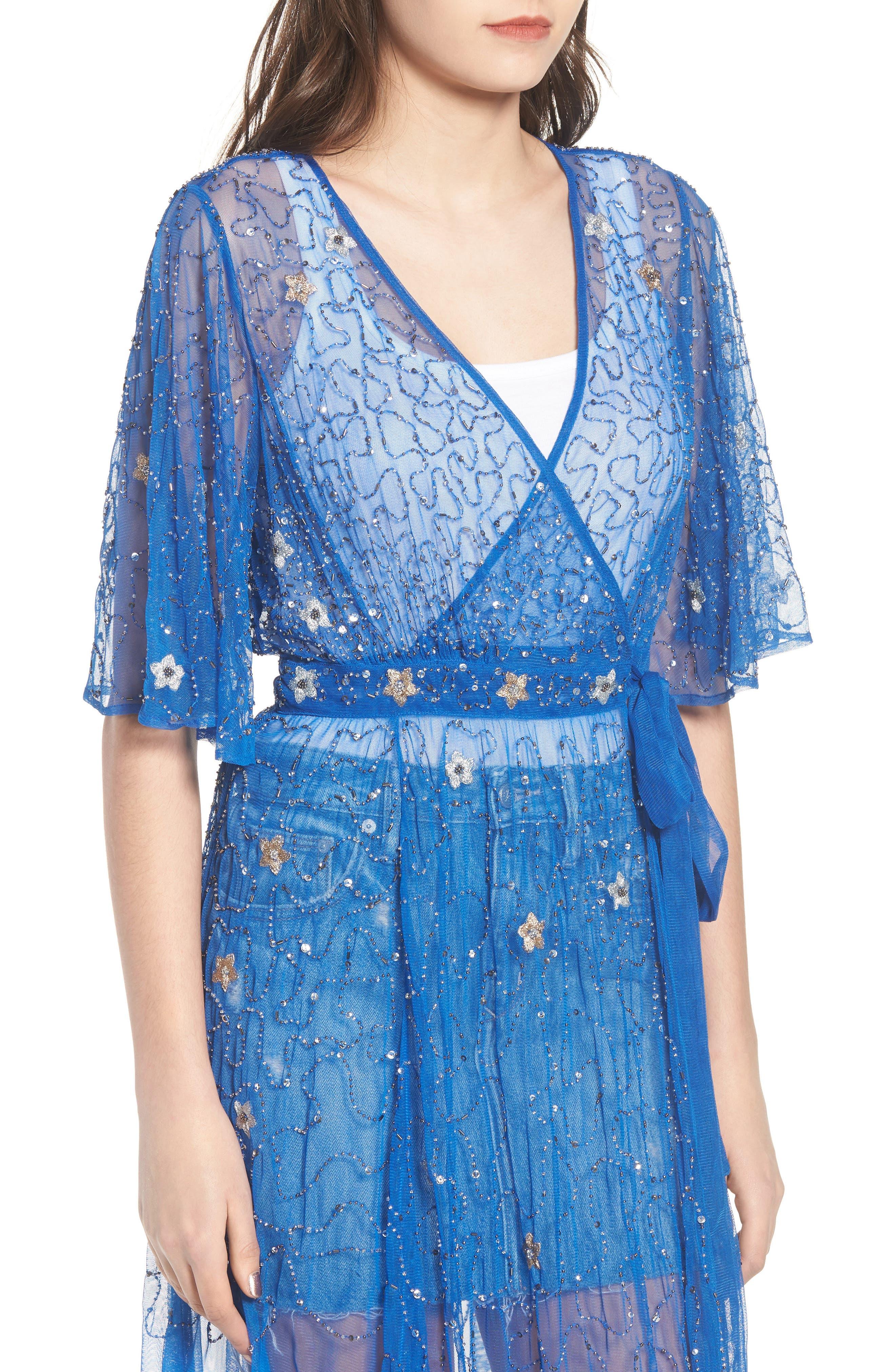 Stargazer Kimono,                             Alternate thumbnail 4, color,                             Lapiz Blue