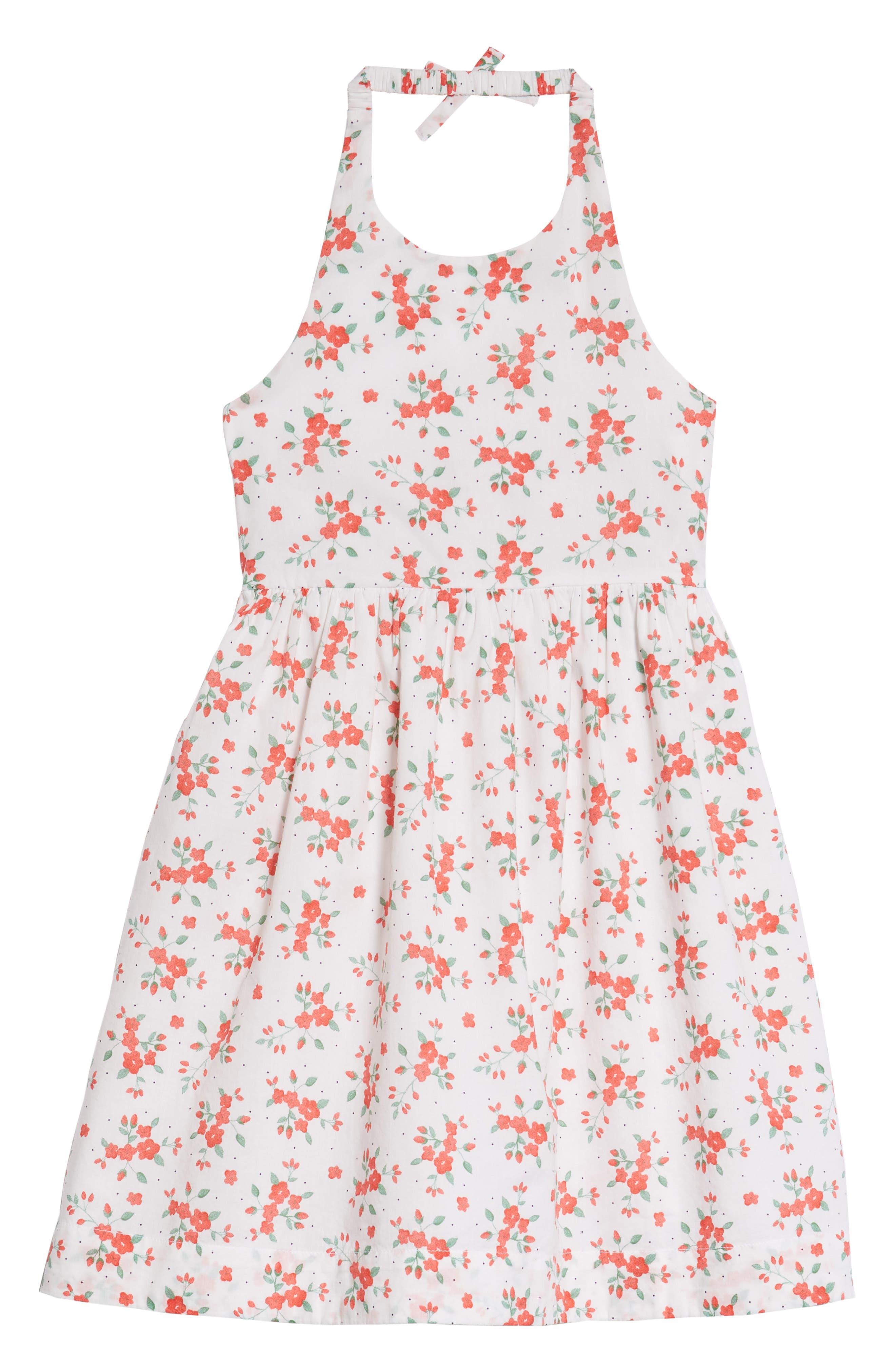 Floral Halter Dress,                         Main,                         color, White Bouquet Toss