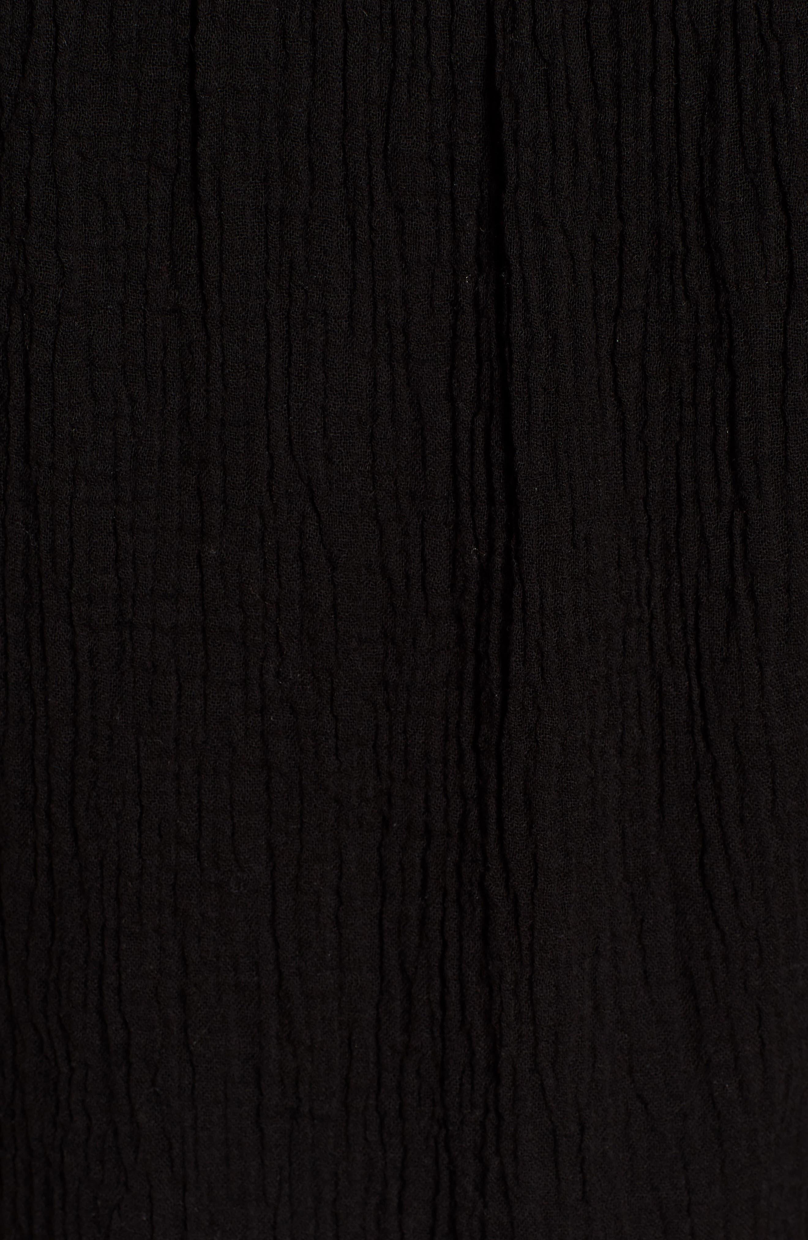 Cutout Sleeve Top,                             Alternate thumbnail 6, color,                             Black