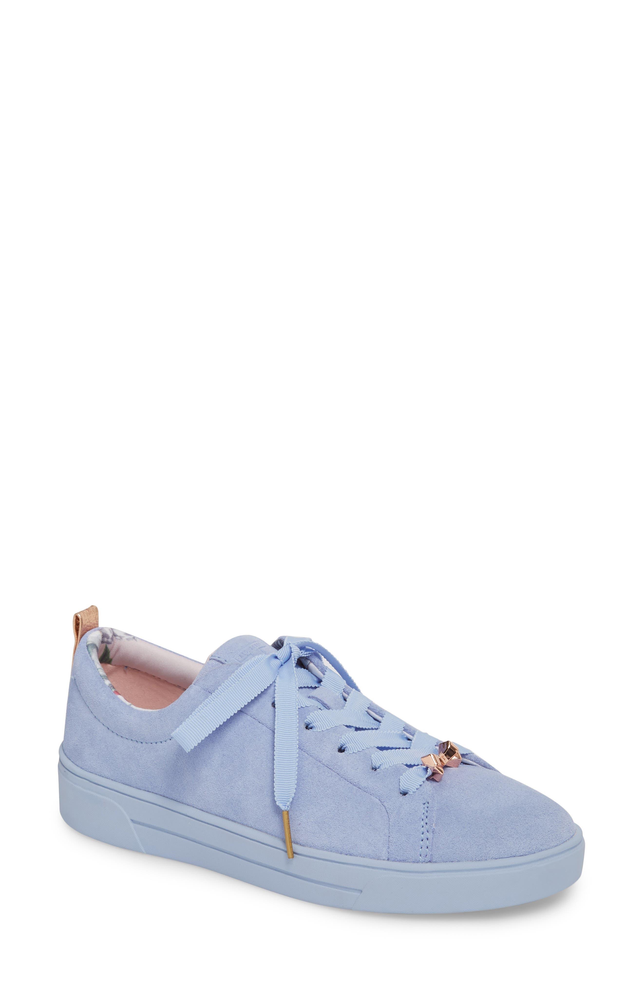 Kelleis Sneaker,                         Main,                         color, Light Blue Suede