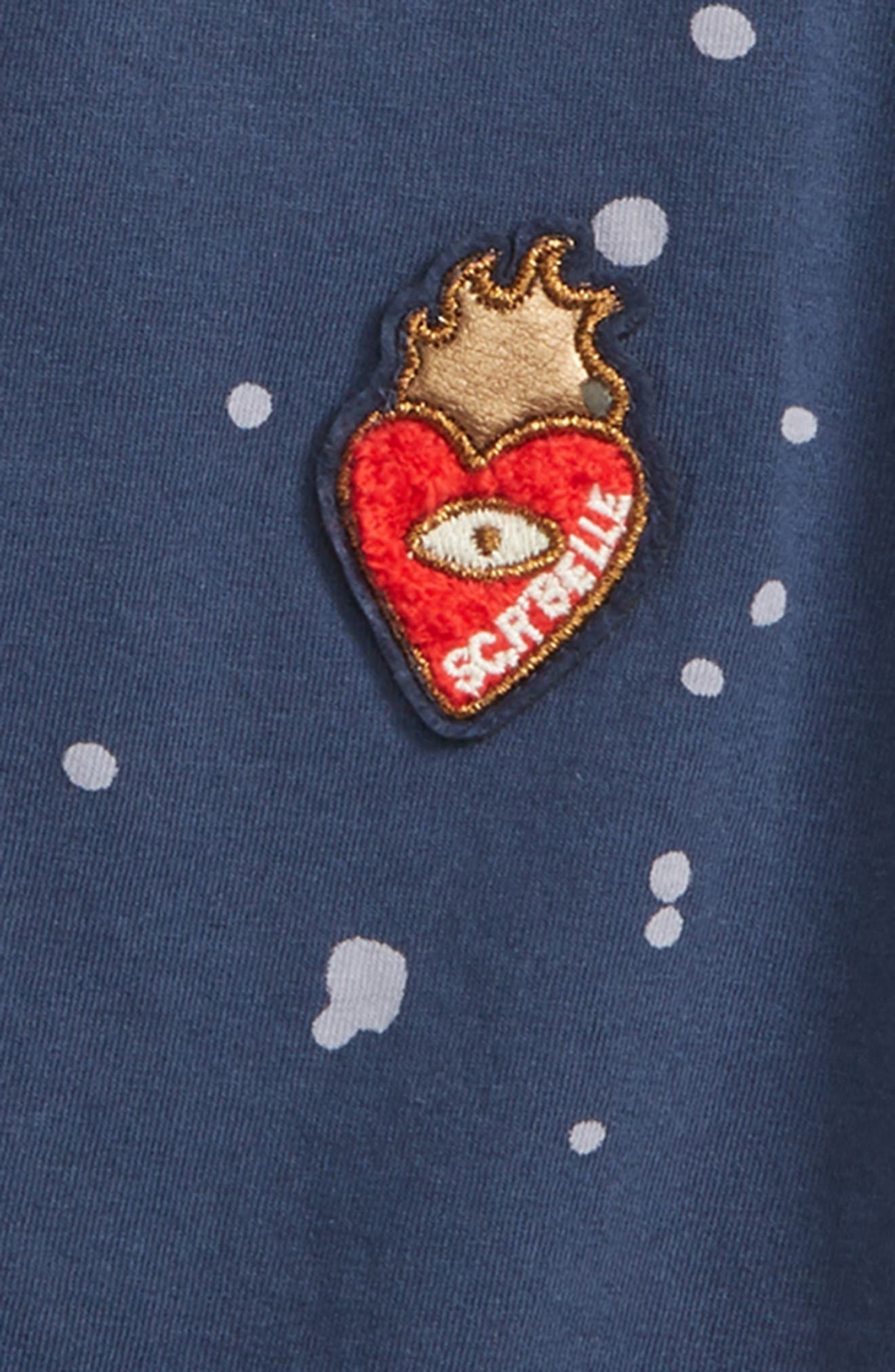 Scotch R'Belle Embroidered Tee,                             Alternate thumbnail 2, color,                             Indigo