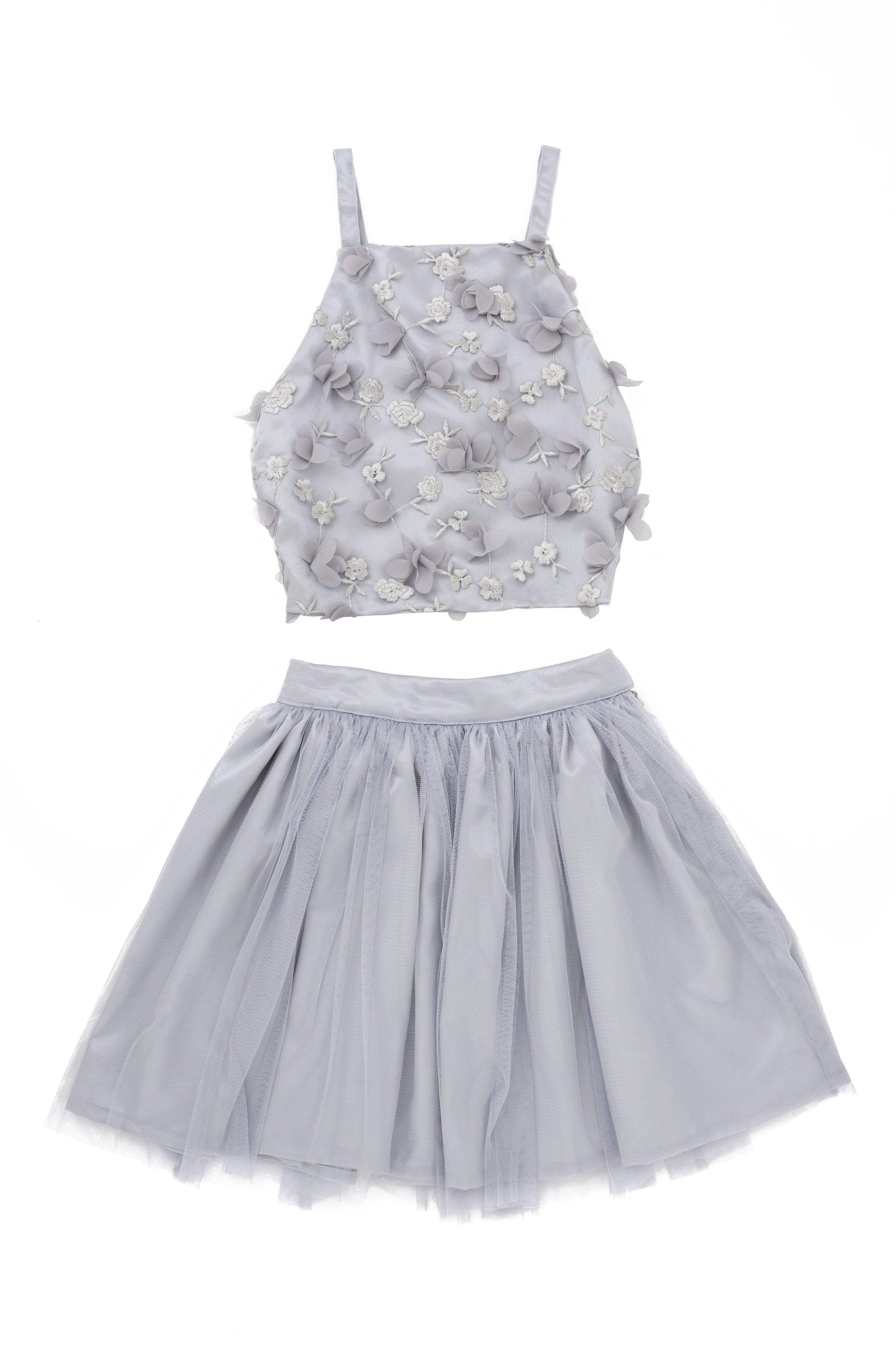 Main Image - Stella M'Lia 3D Tulle Two-Piece Dress (Big Girls)