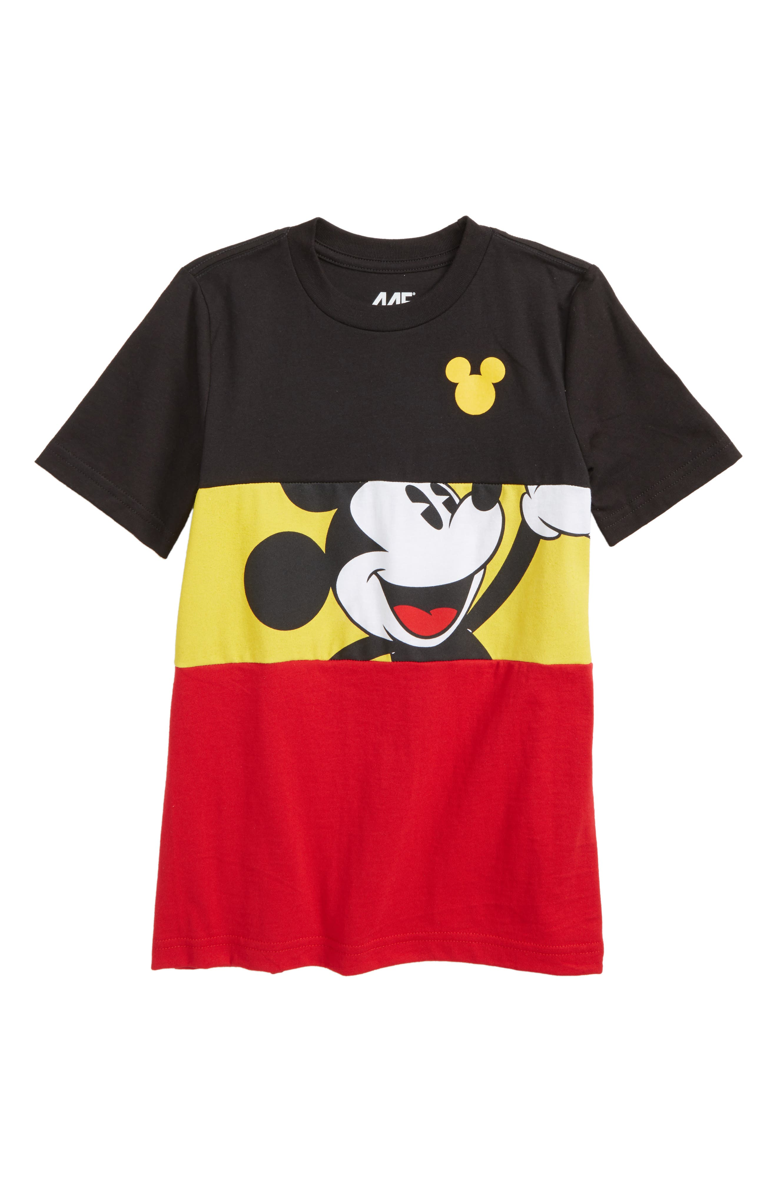 Mickey in the Middle T-Shirt,                             Main thumbnail 1, color,                             Black