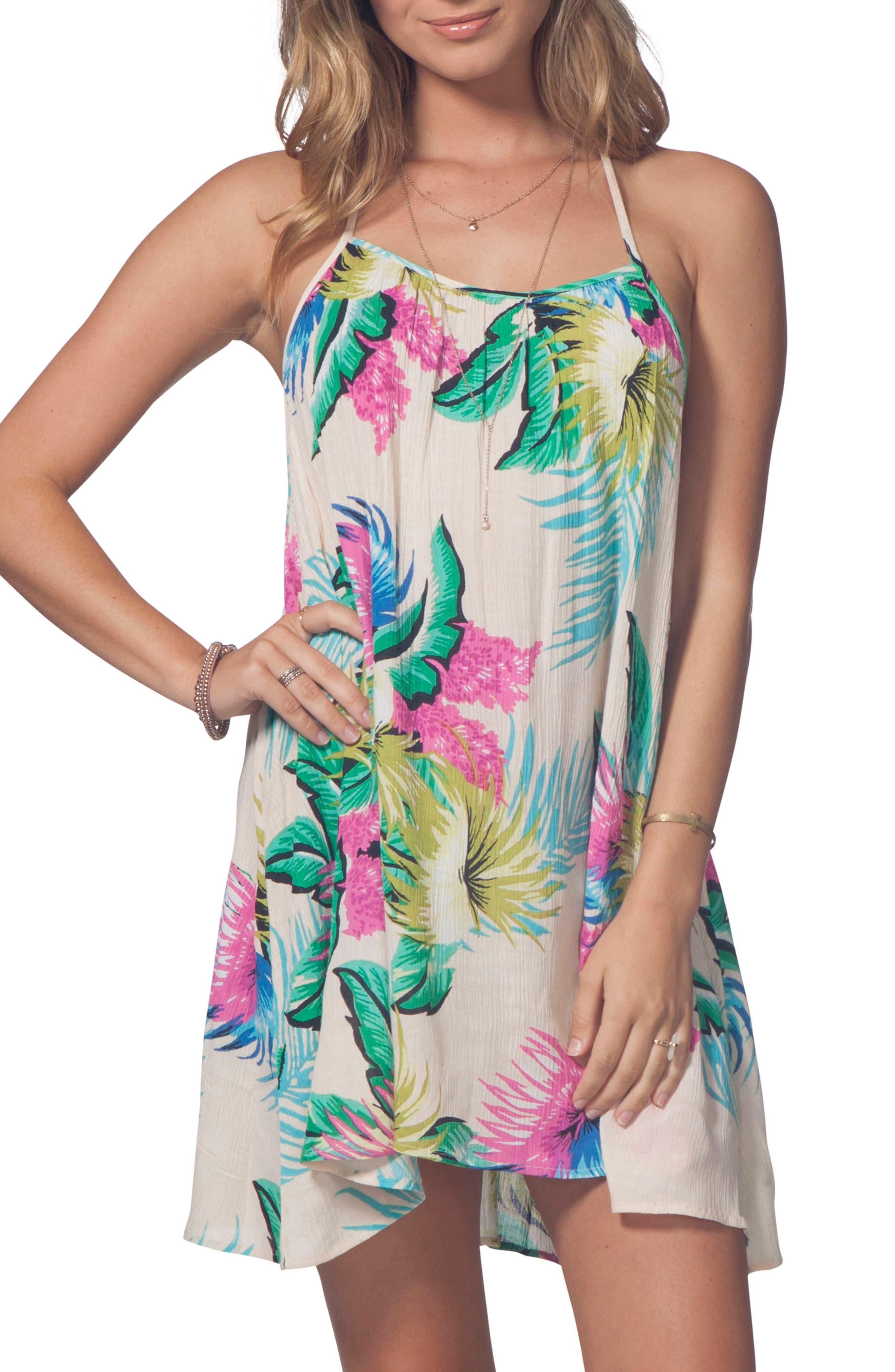 Ophelia Cover-Up Dress,                         Main,                         color, Cream