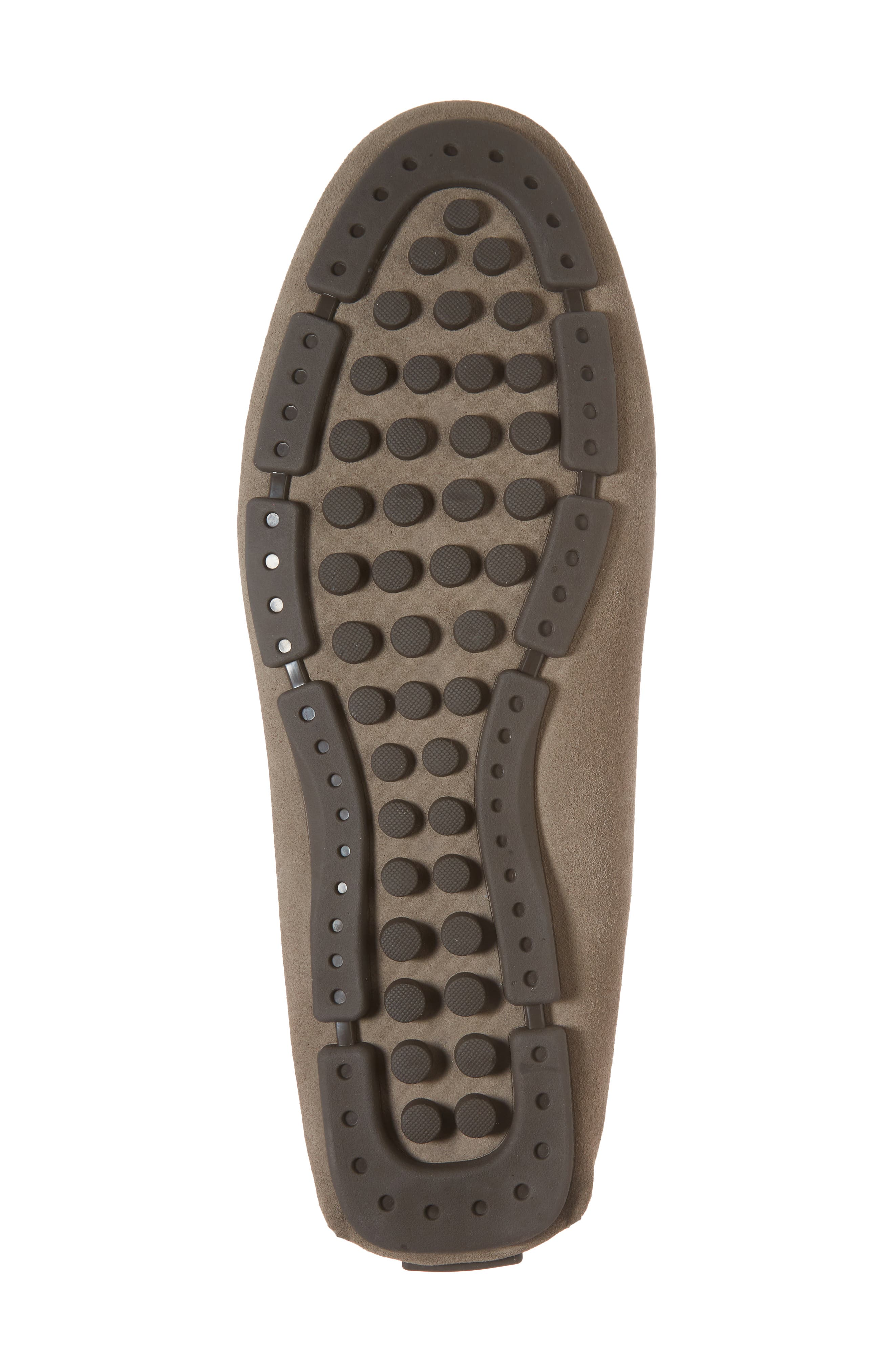 Scottsdale Perforated Driving Moccasin,                             Alternate thumbnail 6, color,                             Grey Suede