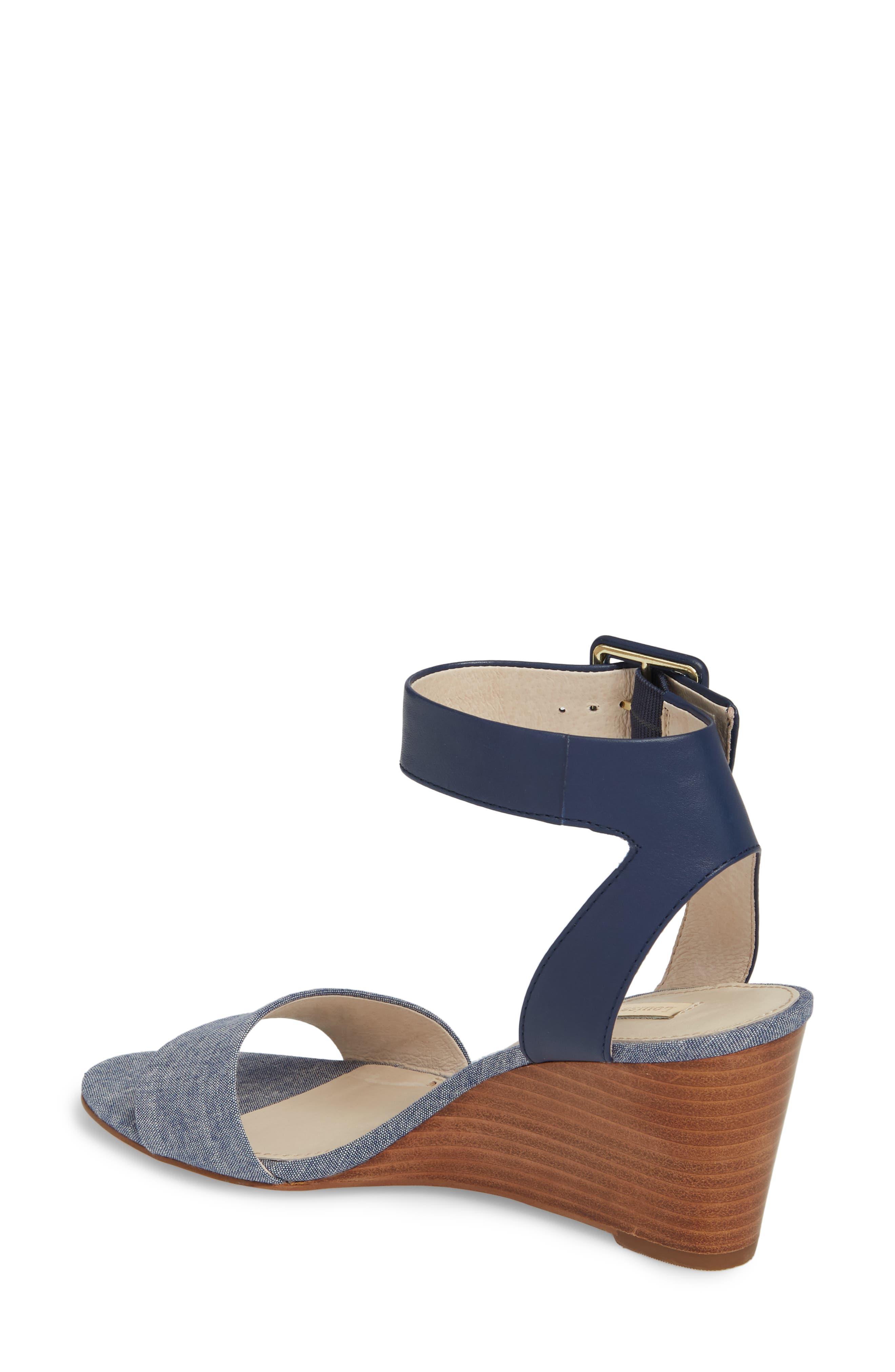 Punya Wedge Sandal,                             Alternate thumbnail 2, color,                             Denim Fabric