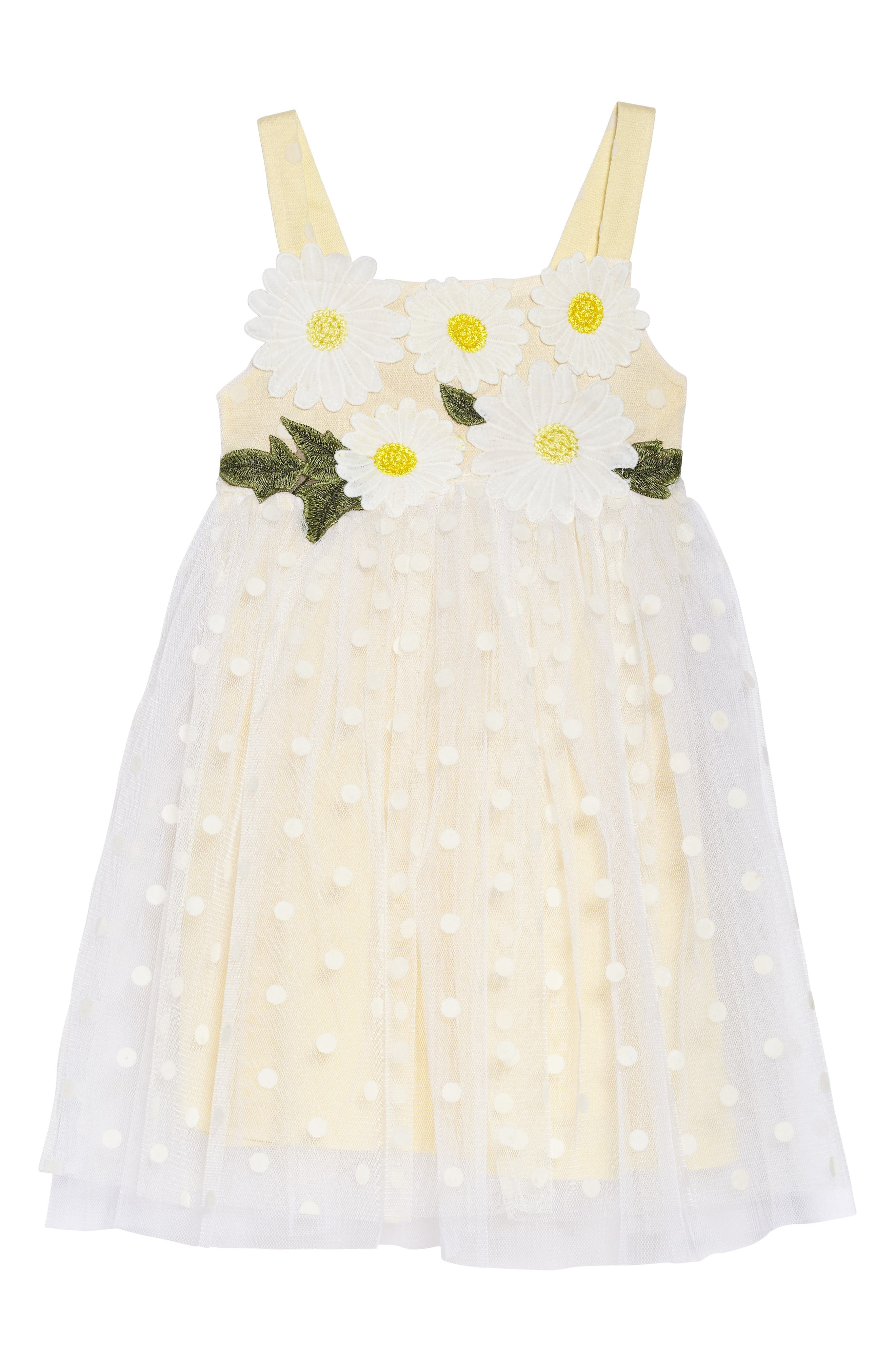 Polka Dot Dress,                             Main thumbnail 1, color,                             White Multi