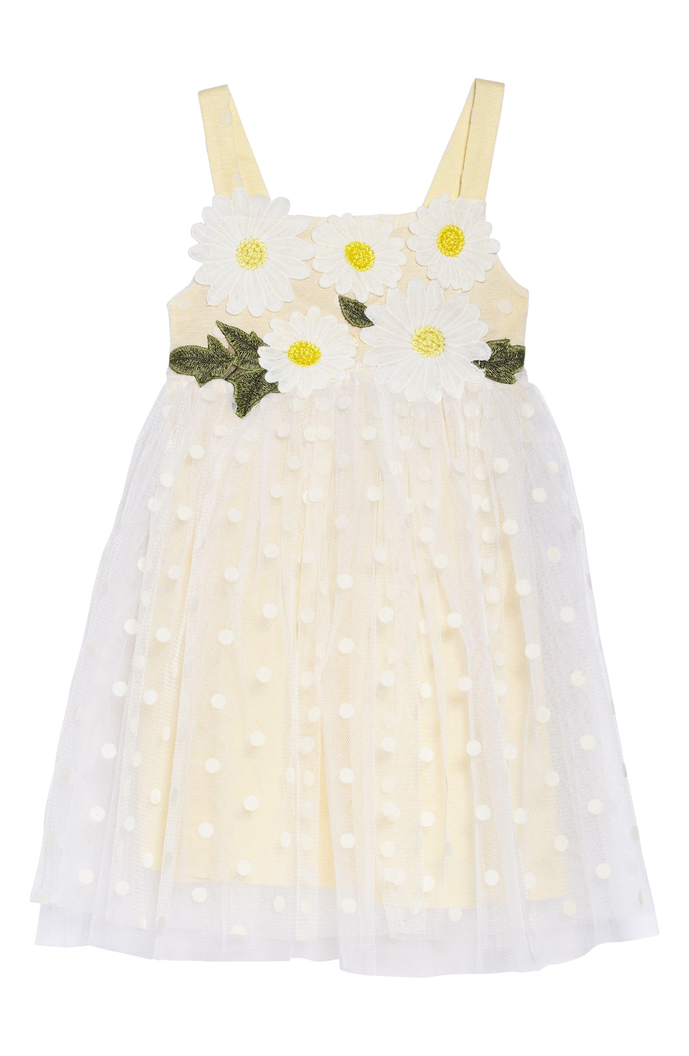 Truly Me Polka Dot Dress (Toddler Girls & Little Girls)