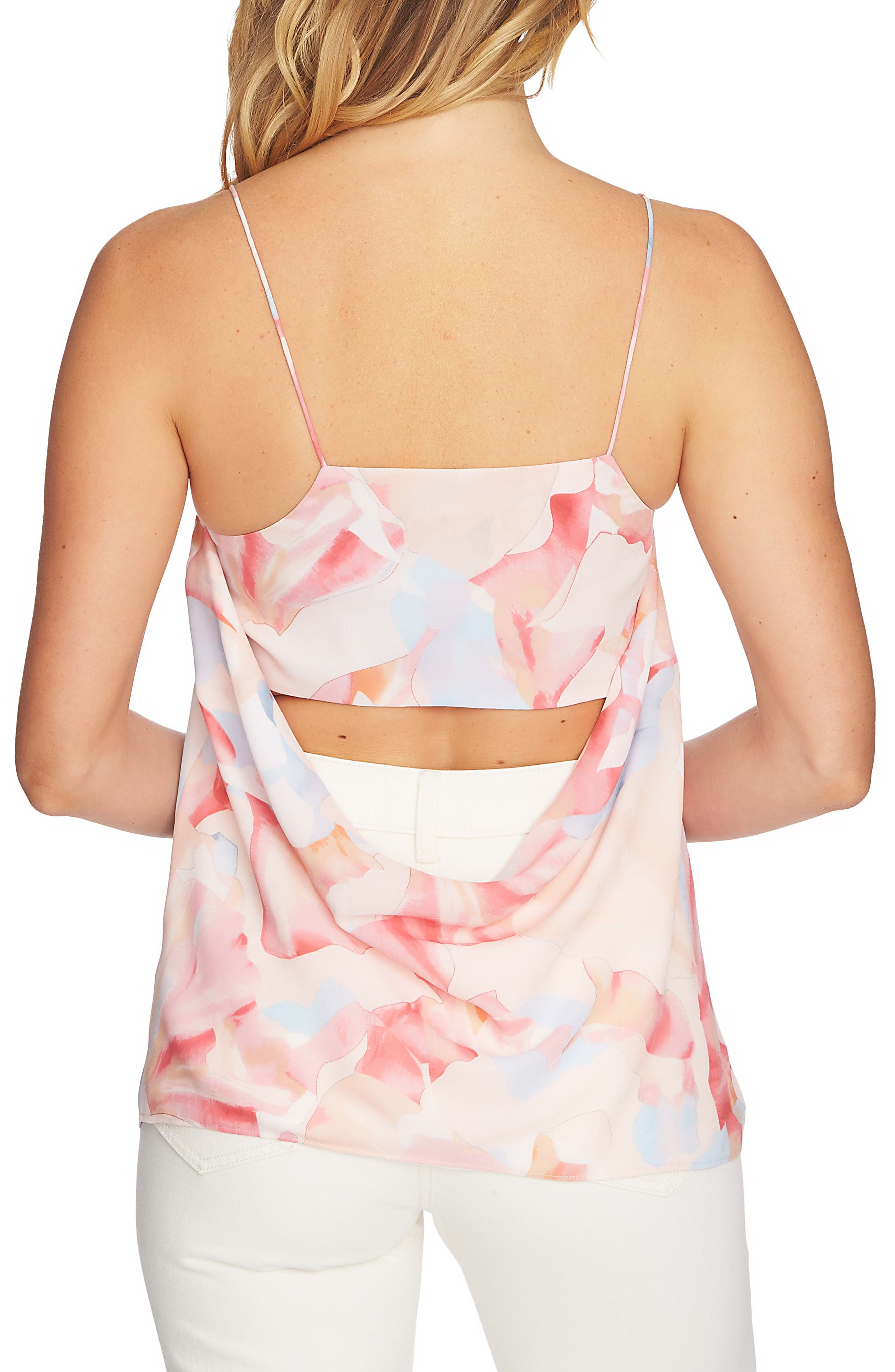 Cowl Neck Camisole,                             Alternate thumbnail 2, color,                             New Ivory