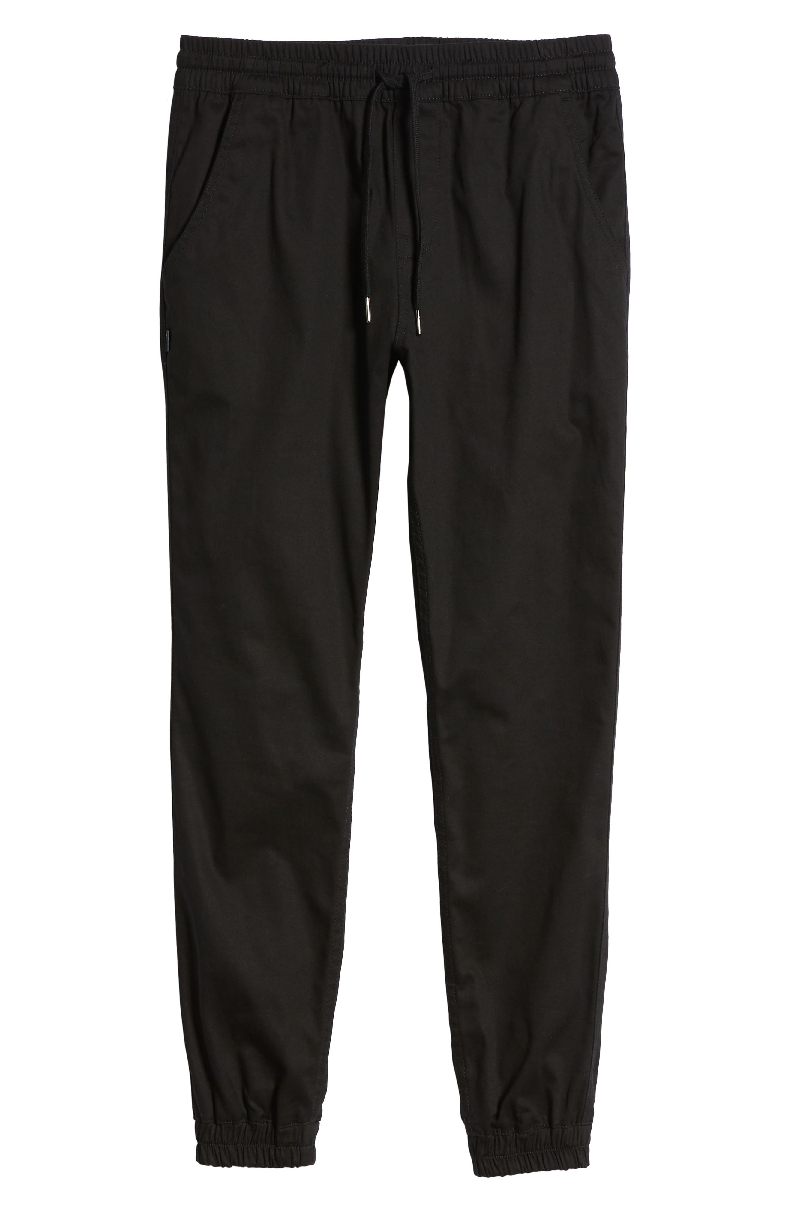Runner Slim Fit Jogger Pants,                             Alternate thumbnail 6, color,                             Black