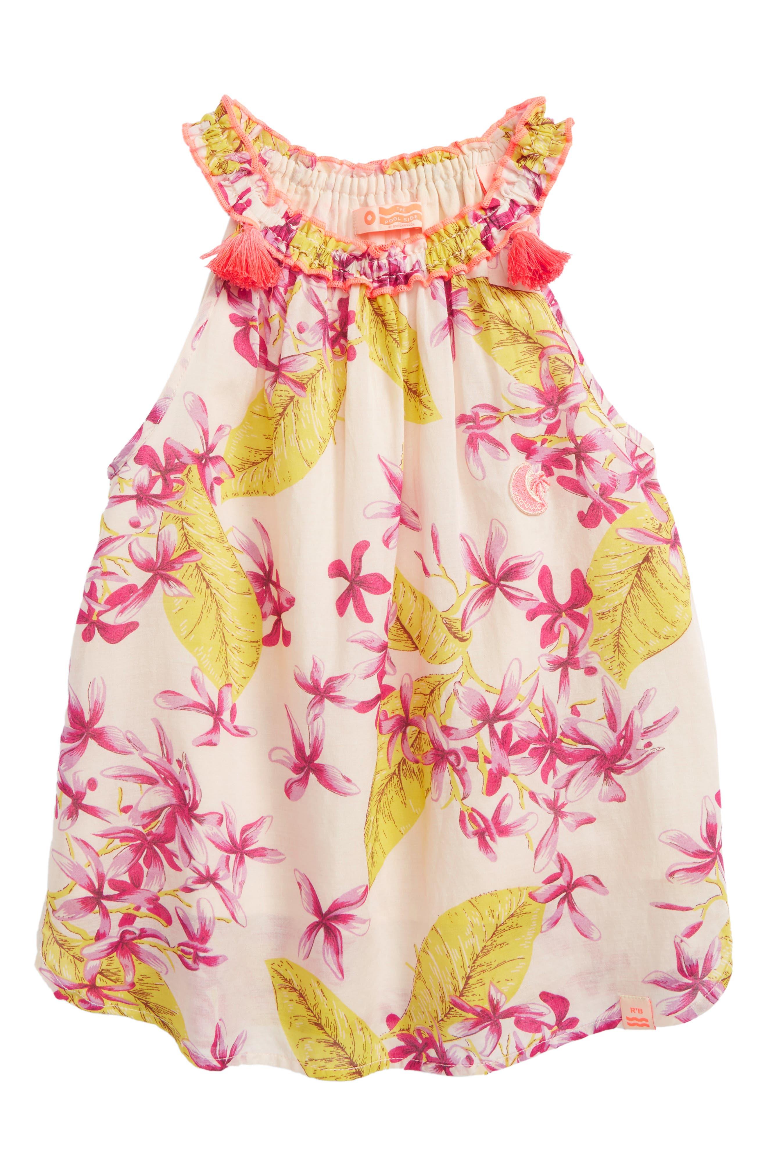Scotch R'Belle Floral Print Trapeze Top,                         Main,                         color, Pink Print