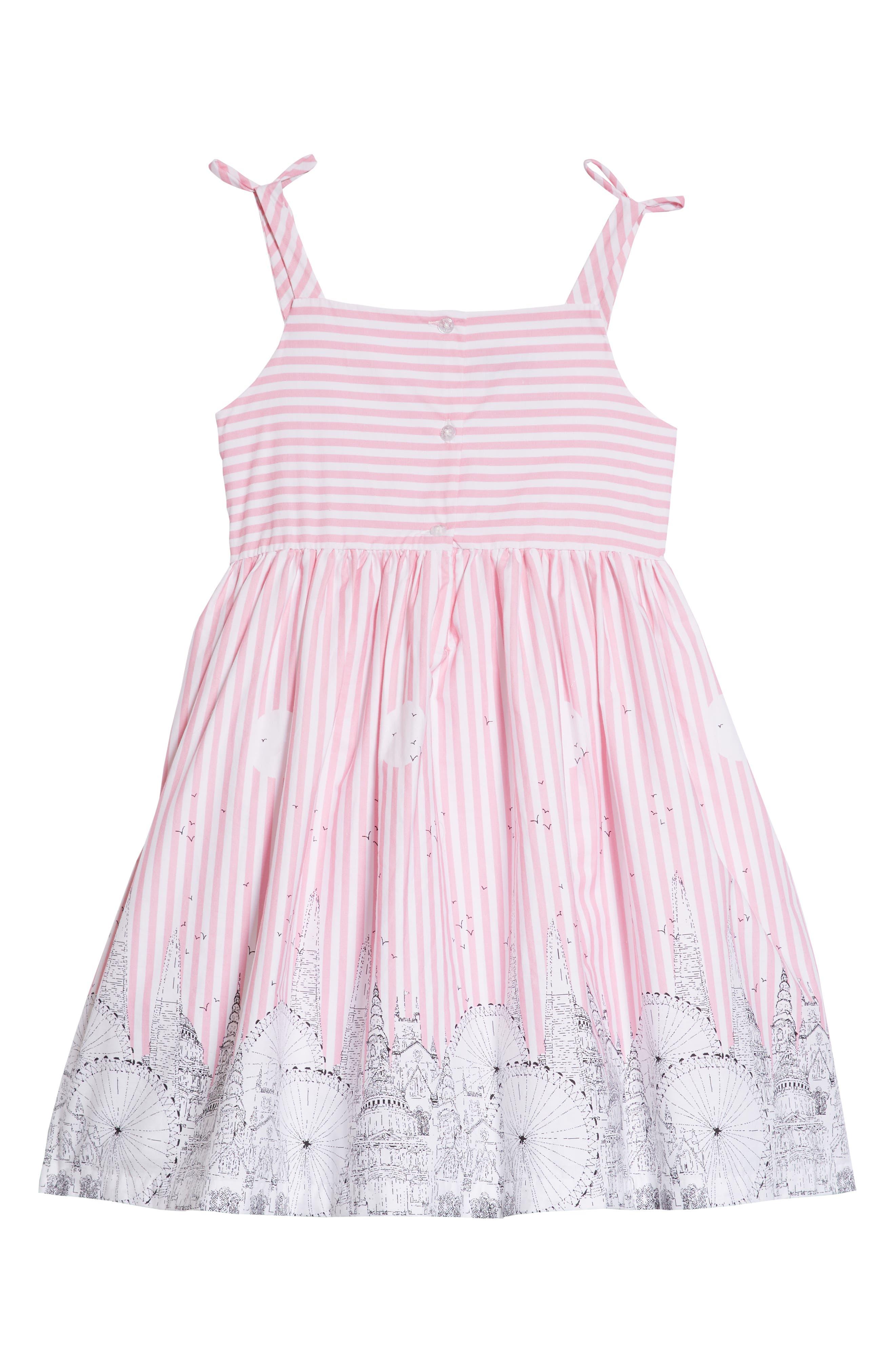 Cityscape Dress,                             Alternate thumbnail 2, color,                             Pink/ White