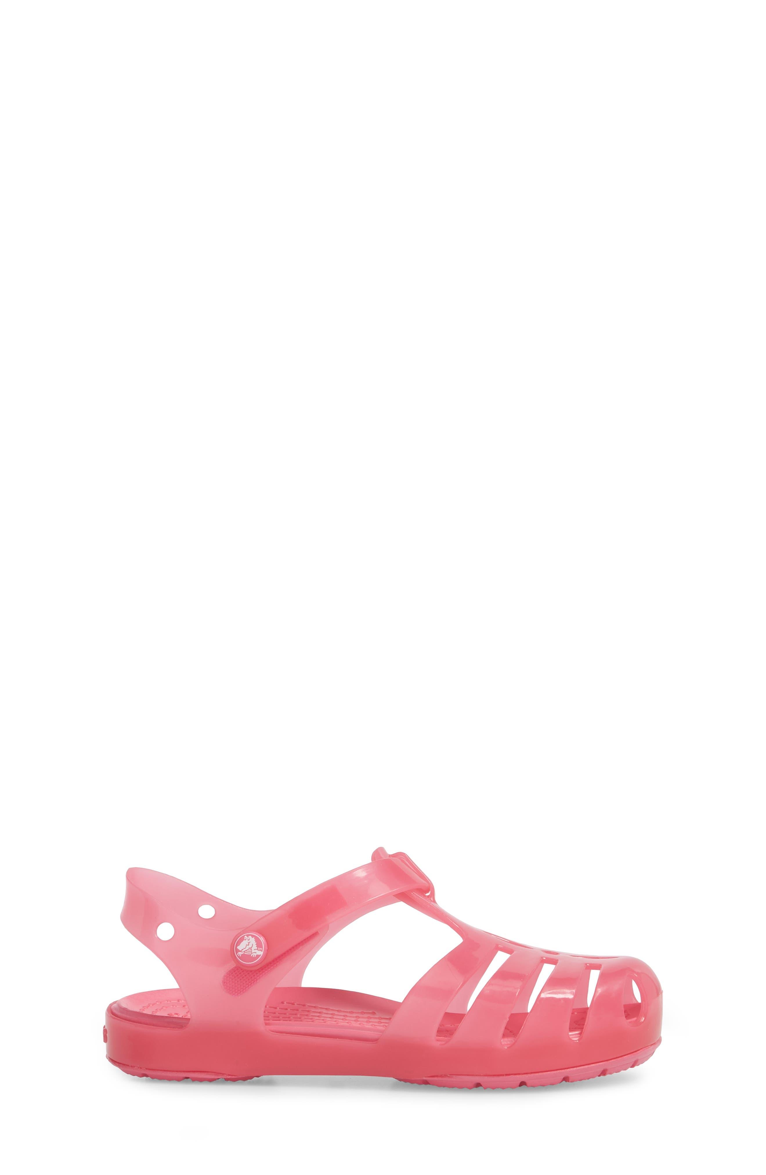 Isabella Glitter Fisherman Sandal,                             Alternate thumbnail 3, color,                             Paradise Pink