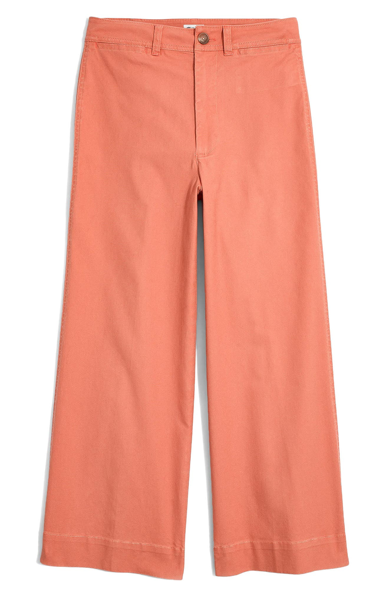 Emmett Crop Wide Leg Pants,                             Alternate thumbnail 7, color,                             Dried Coral