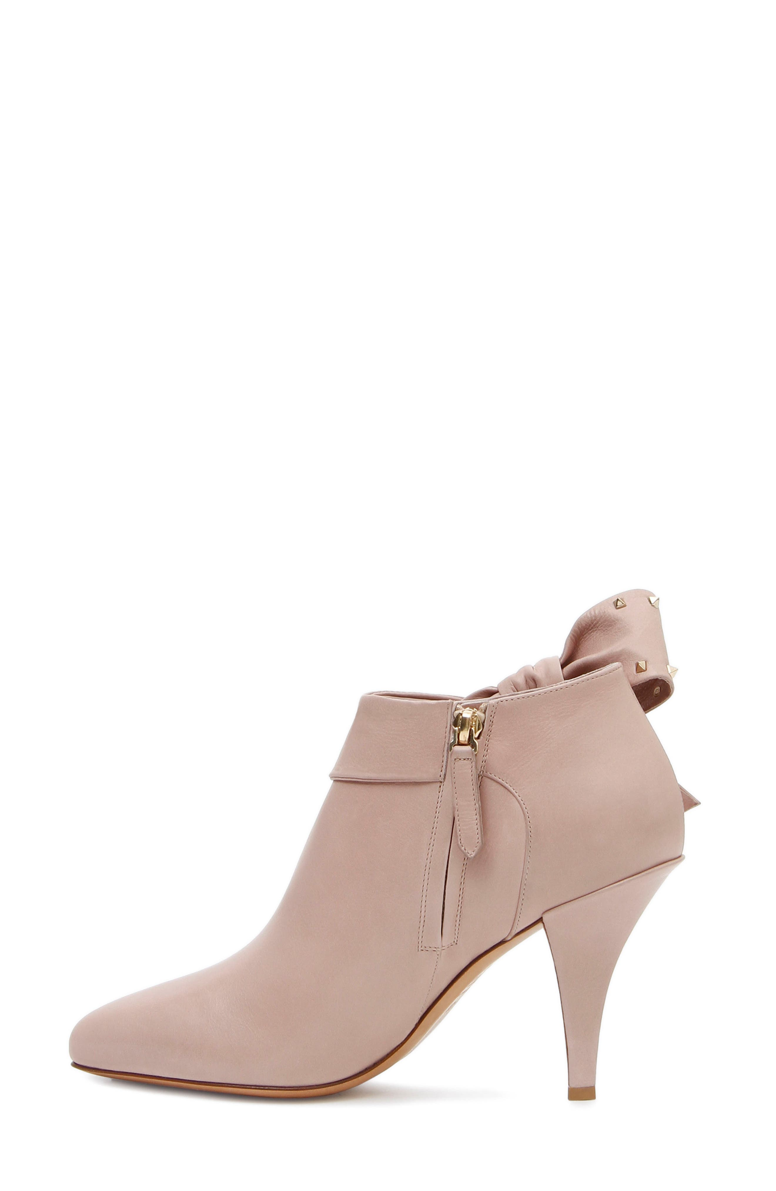 Studded Bow Ankle Bootie,                             Alternate thumbnail 2, color,                             Poudre