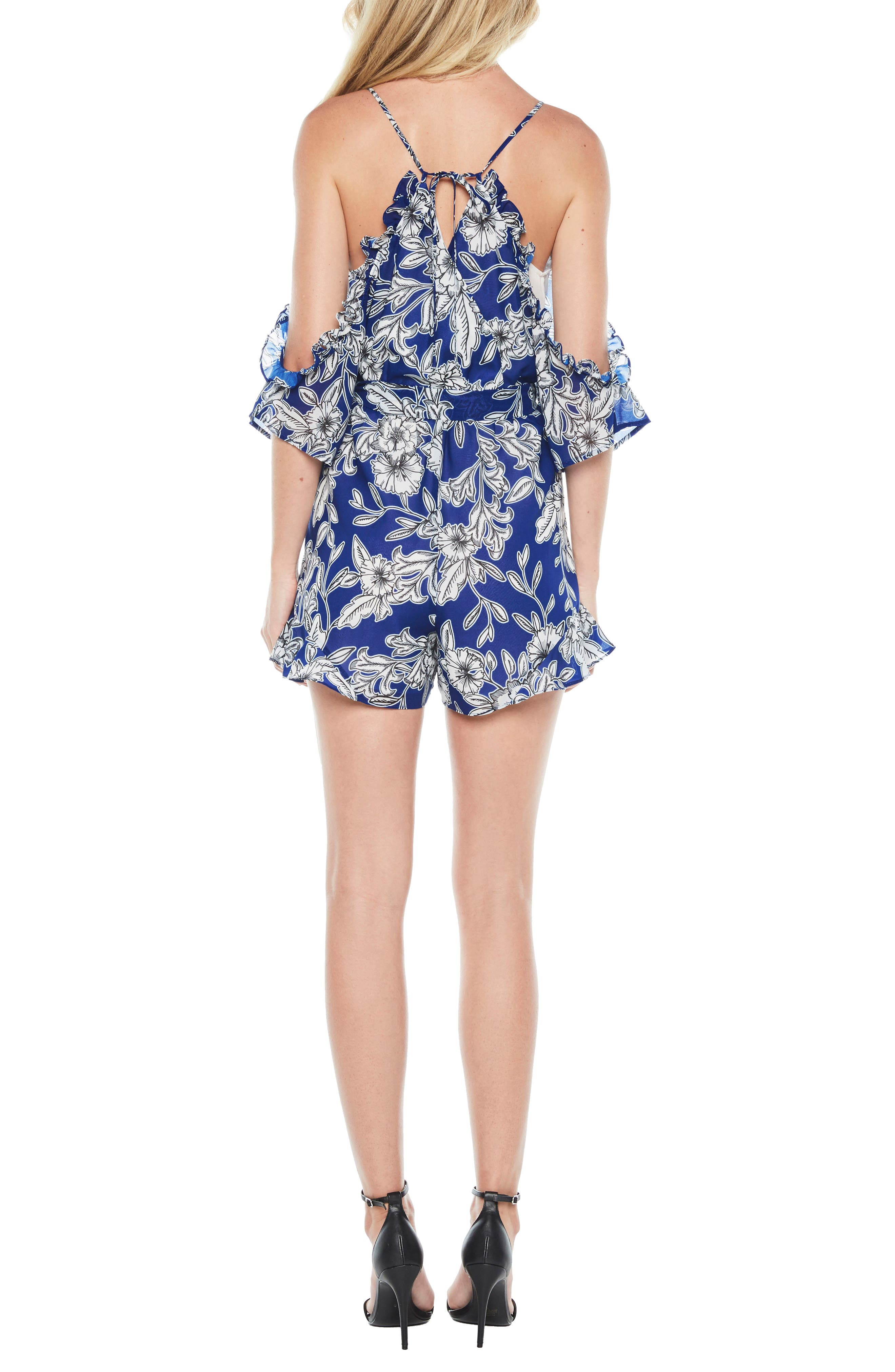 Alternate Image 2  - Bardot Sicily Cold Shoulder Romper
