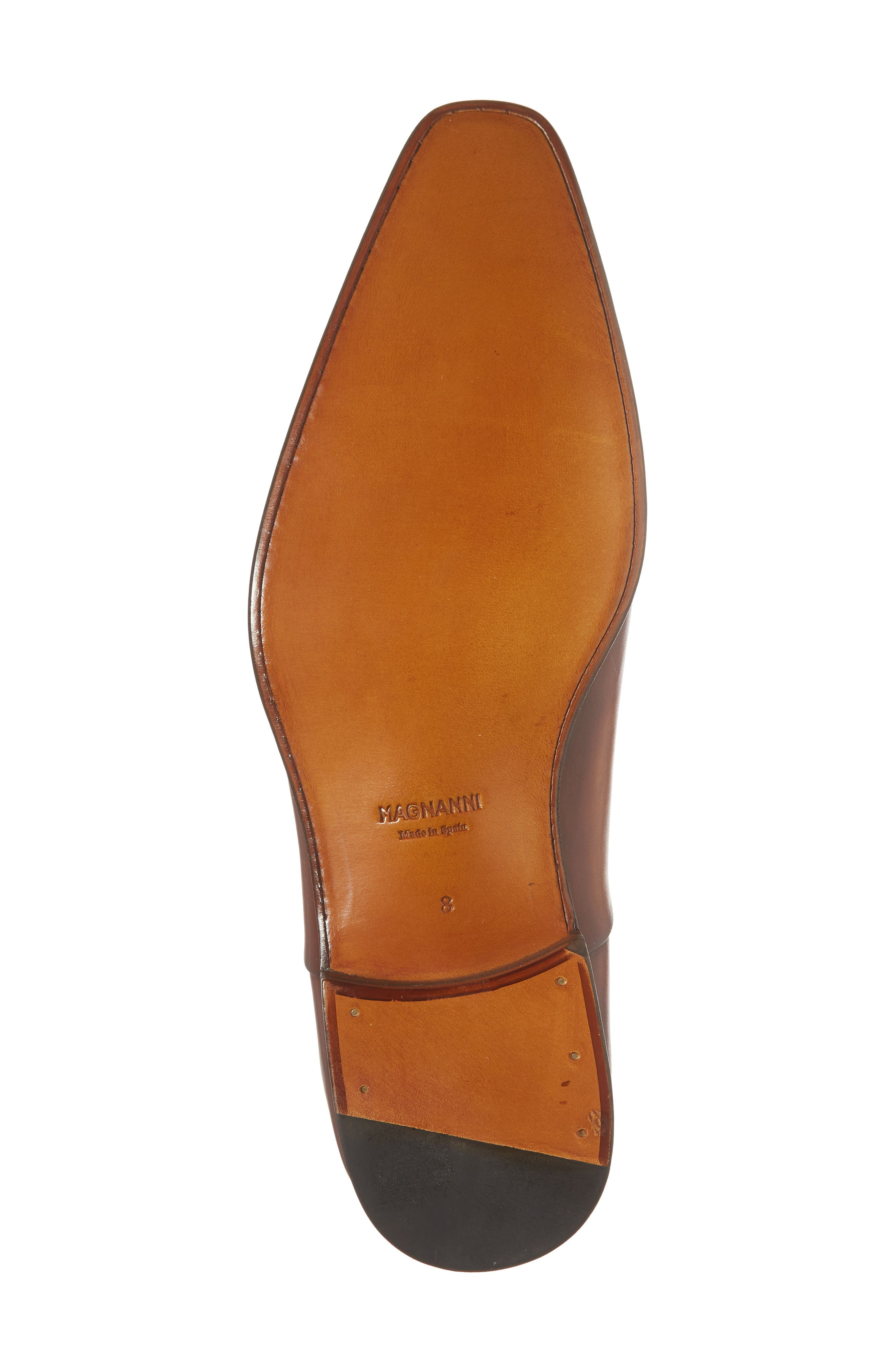 Tobin Cap Toe Oxford,                             Alternate thumbnail 6, color,                             Cognac Leather