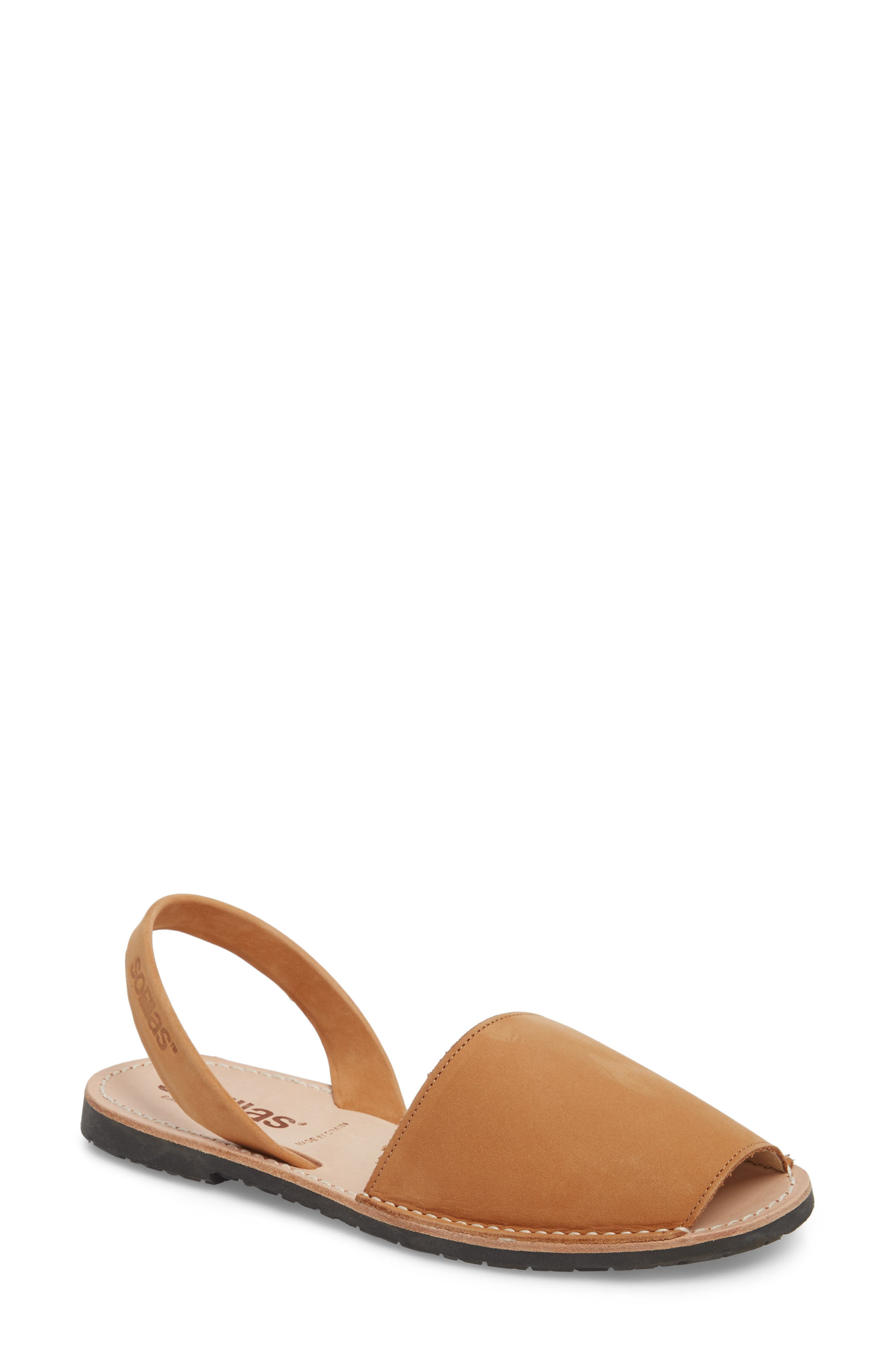 Flat Sandal,                             Main thumbnail 1, color,                             Tan