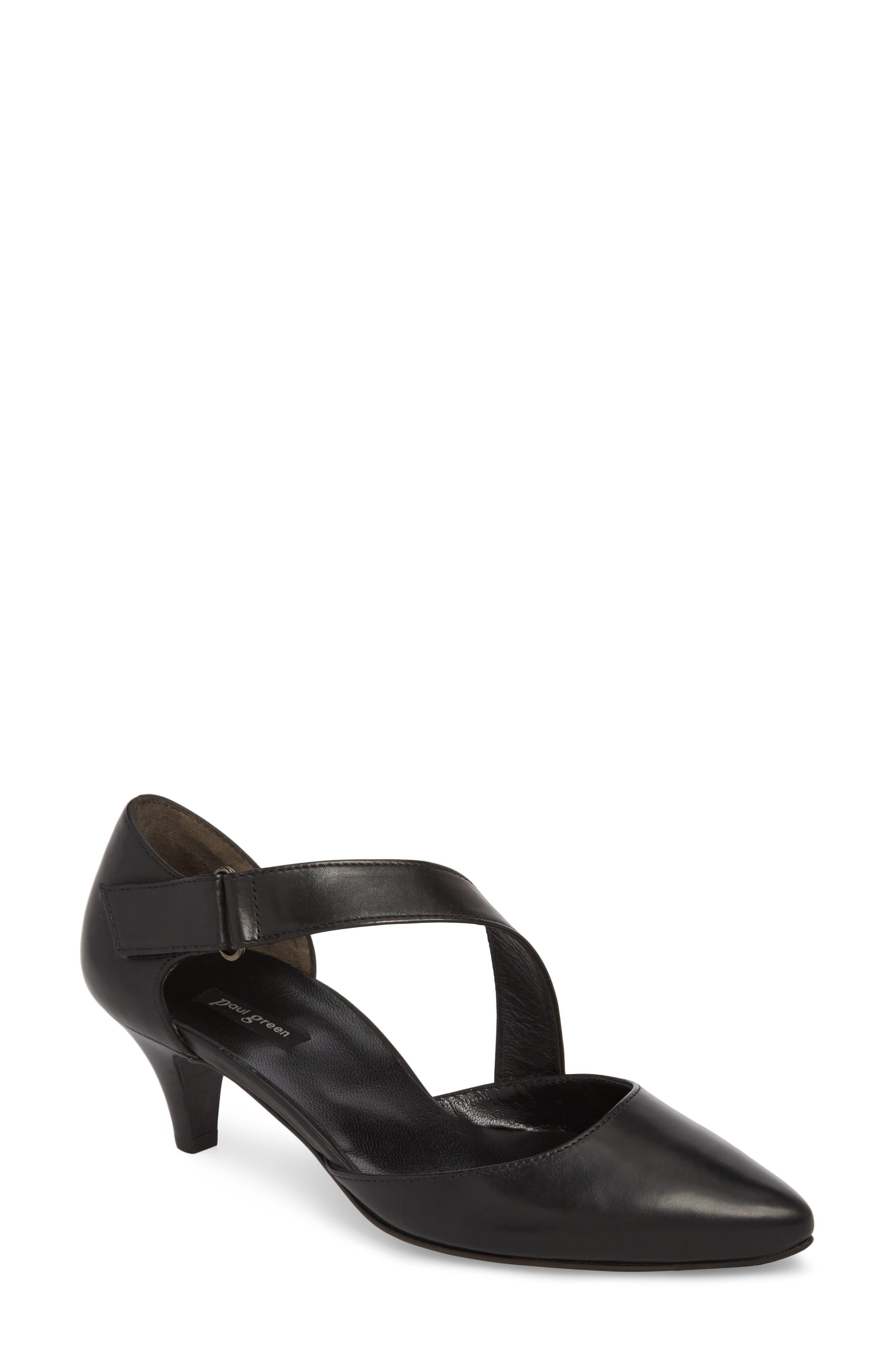 Nicki Asymmetrical Pump,                         Main,                         color, Black
