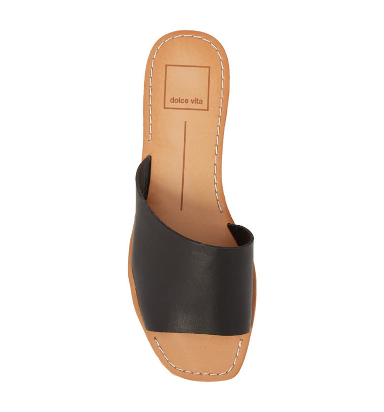 Cato Asymmetrical Slide Sandal, Alternate, color, Black Leather