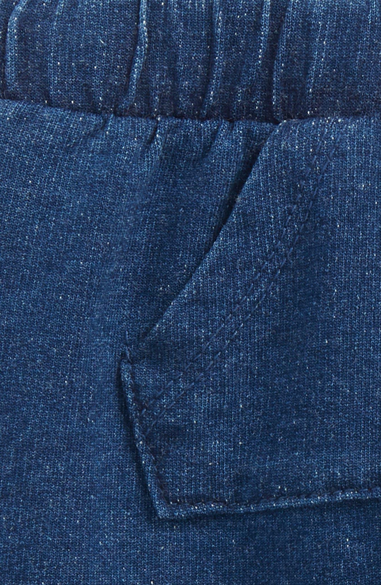 Denim Look Shorts,                             Alternate thumbnail 2, color,                             Blue