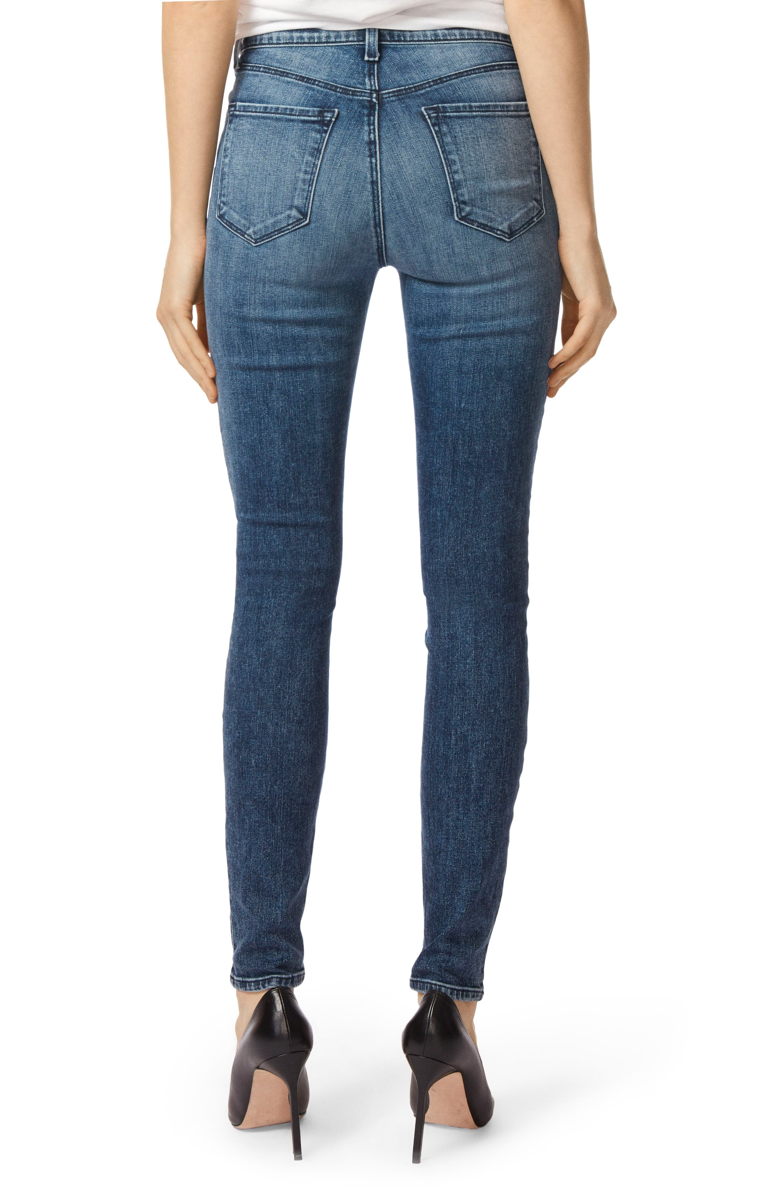 Maria High Waist Skinny Jeans,                             Alternate thumbnail 2, color,                             Moonstruck