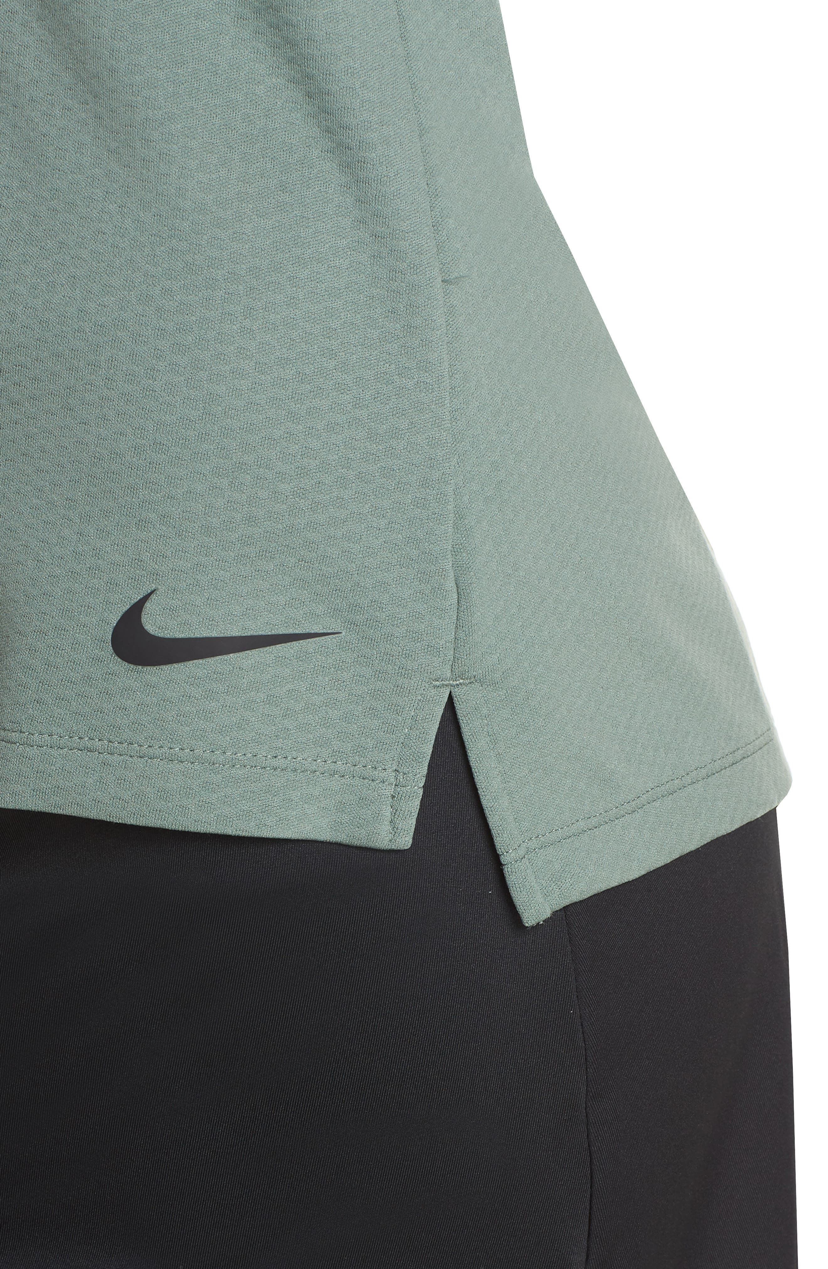 Dry Golf Polo,                             Alternate thumbnail 6, color,                             Clay Green/ Flint Silver