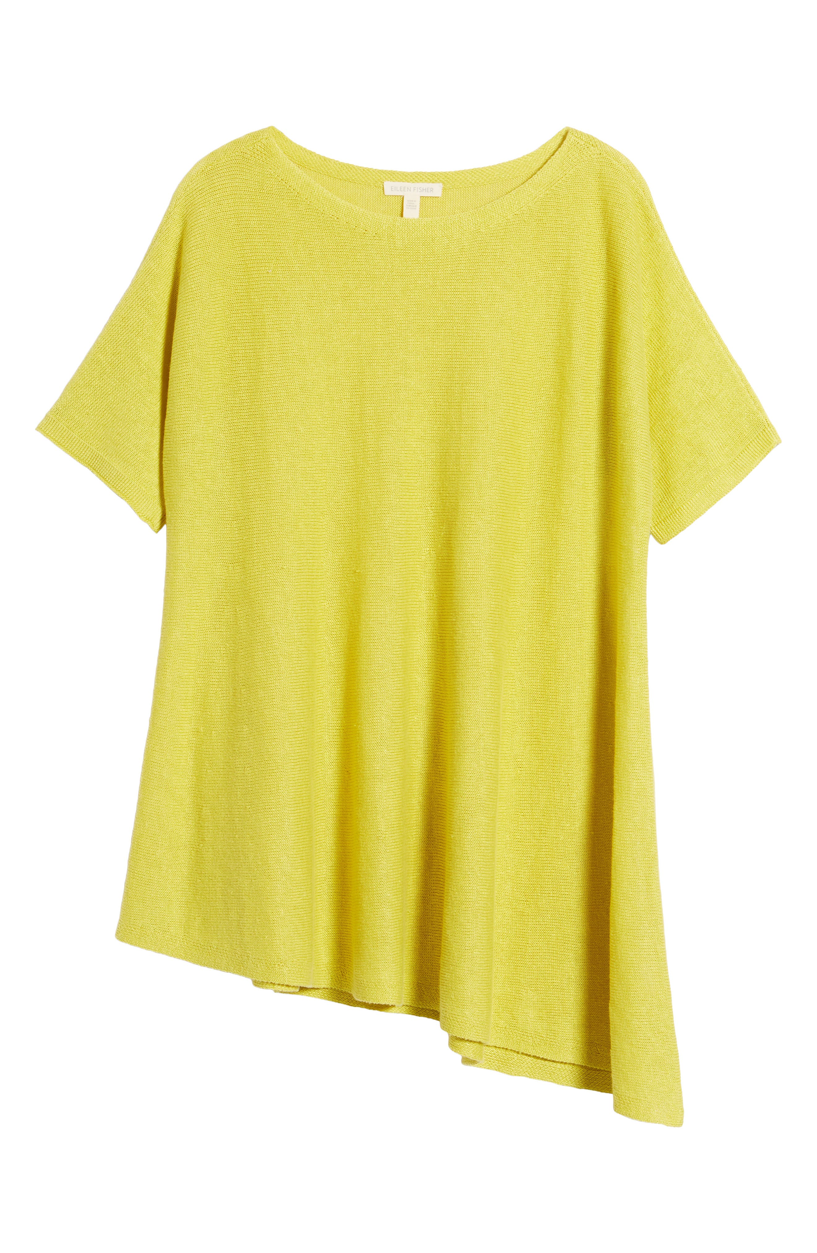 Organic Linen Knit Top,                             Alternate thumbnail 6, color,                             Yarrow