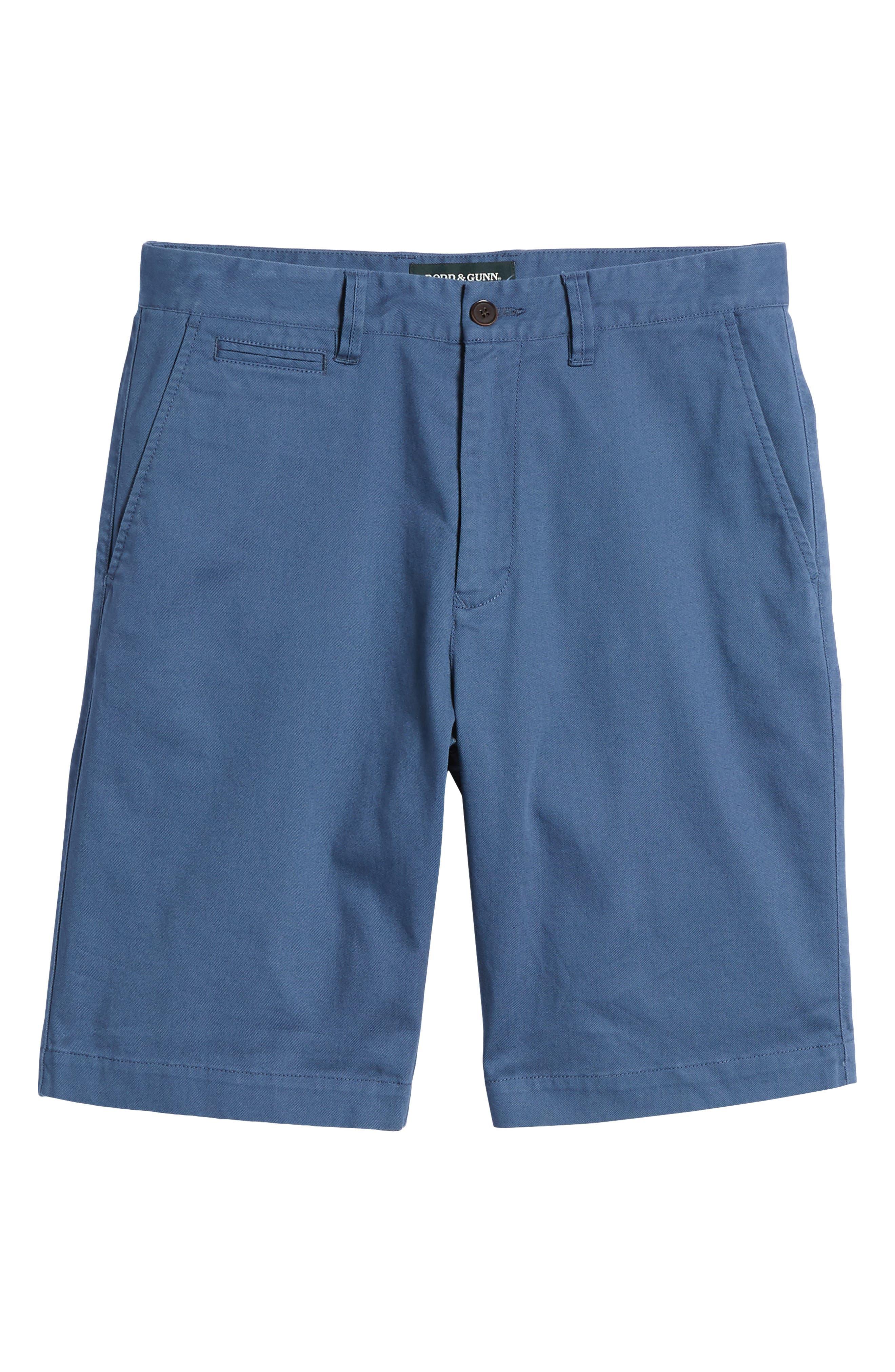Driving Creek Regular Fit Flat Front Shorts,                             Alternate thumbnail 6, color,                             Dusk