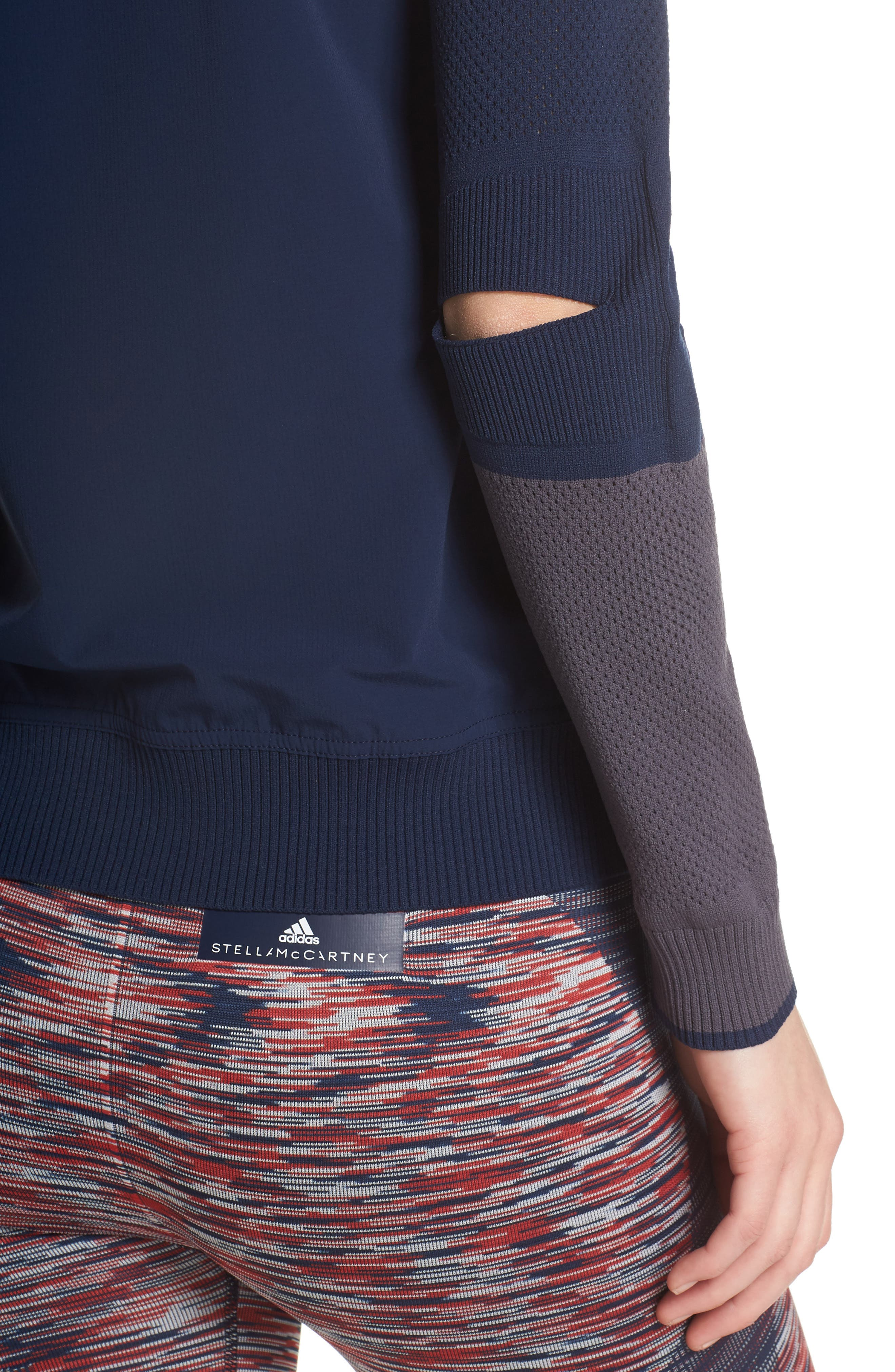 Run Ultra Knit & Woven Jacket,                             Alternate thumbnail 4, color,                             Collegiate Navy