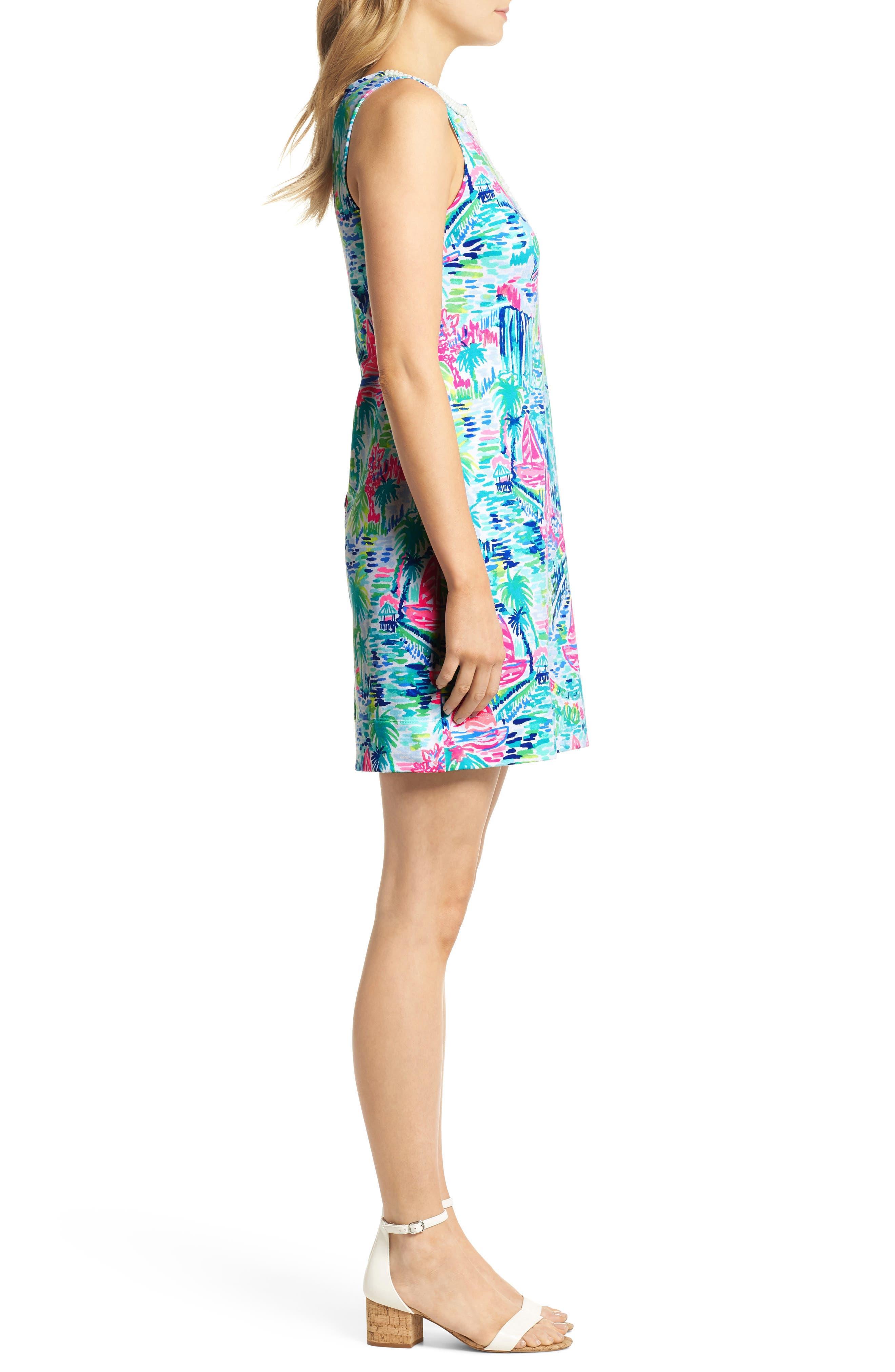 Harper Shift Dress,                             Alternate thumbnail 3, color,                             Multi