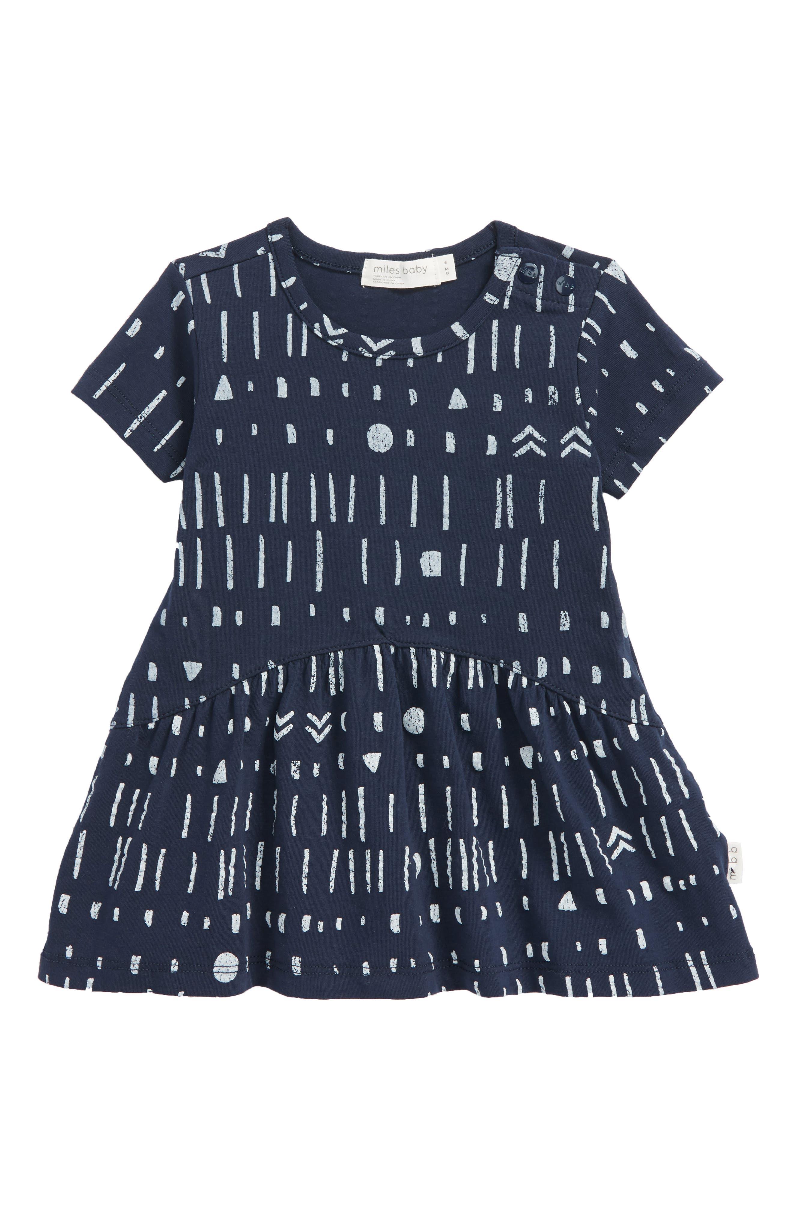 Print Dress,                             Main thumbnail 1, color,                             Navy