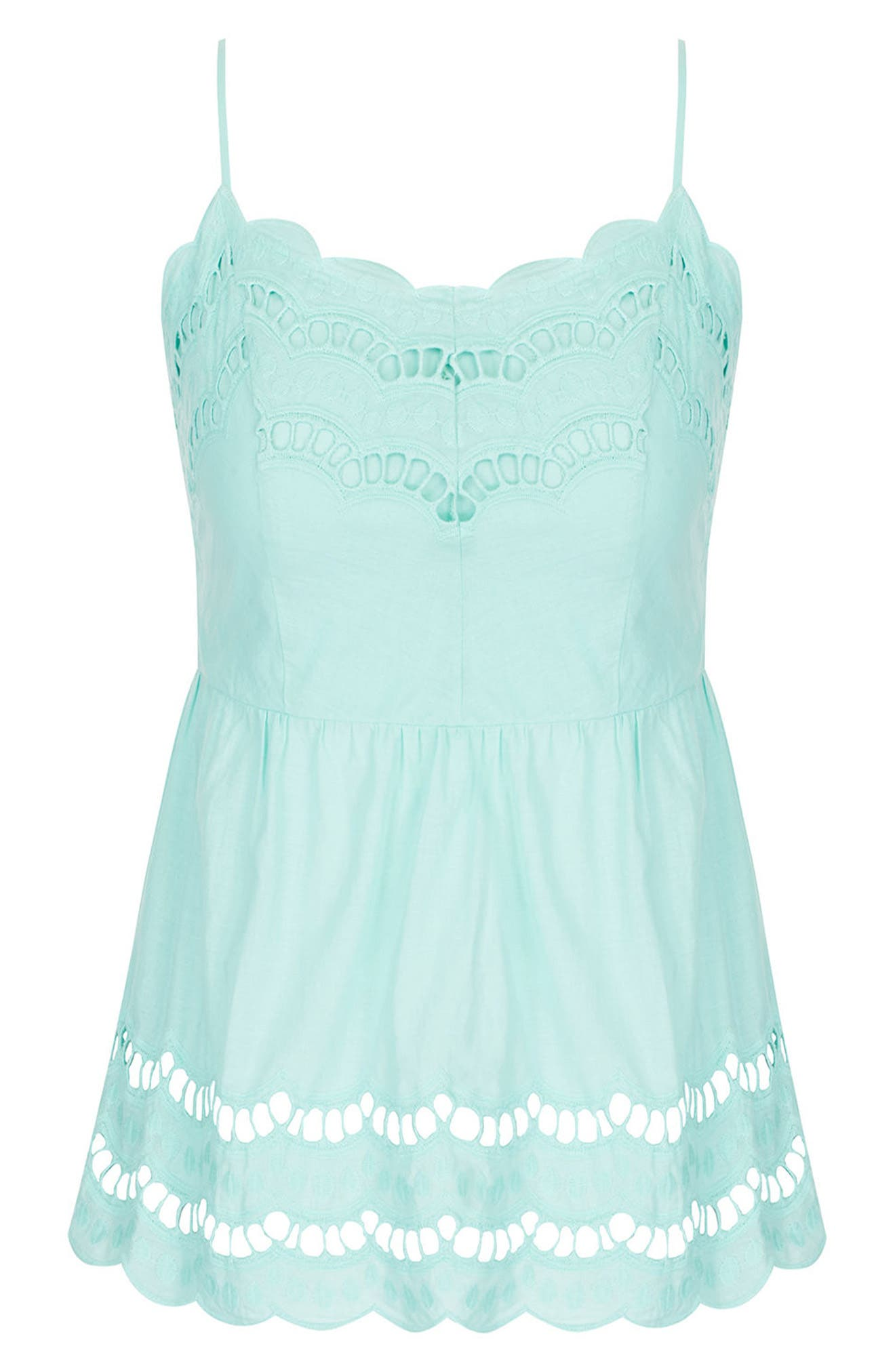 Flirt Peplum Top,                             Alternate thumbnail 3, color,                             Mint