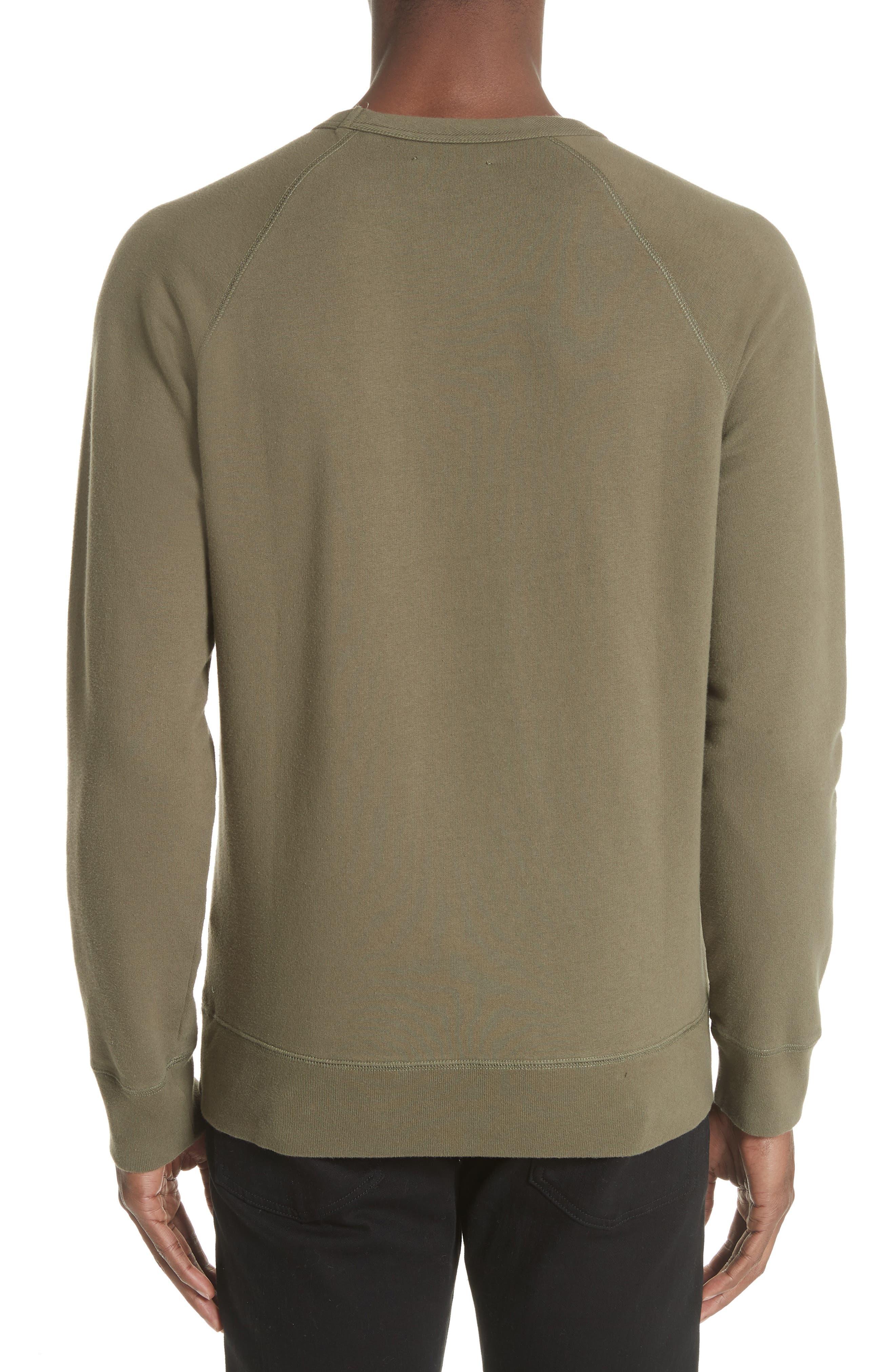 Core Crewneck Sweatshirt,                             Alternate thumbnail 2, color,                             Olive